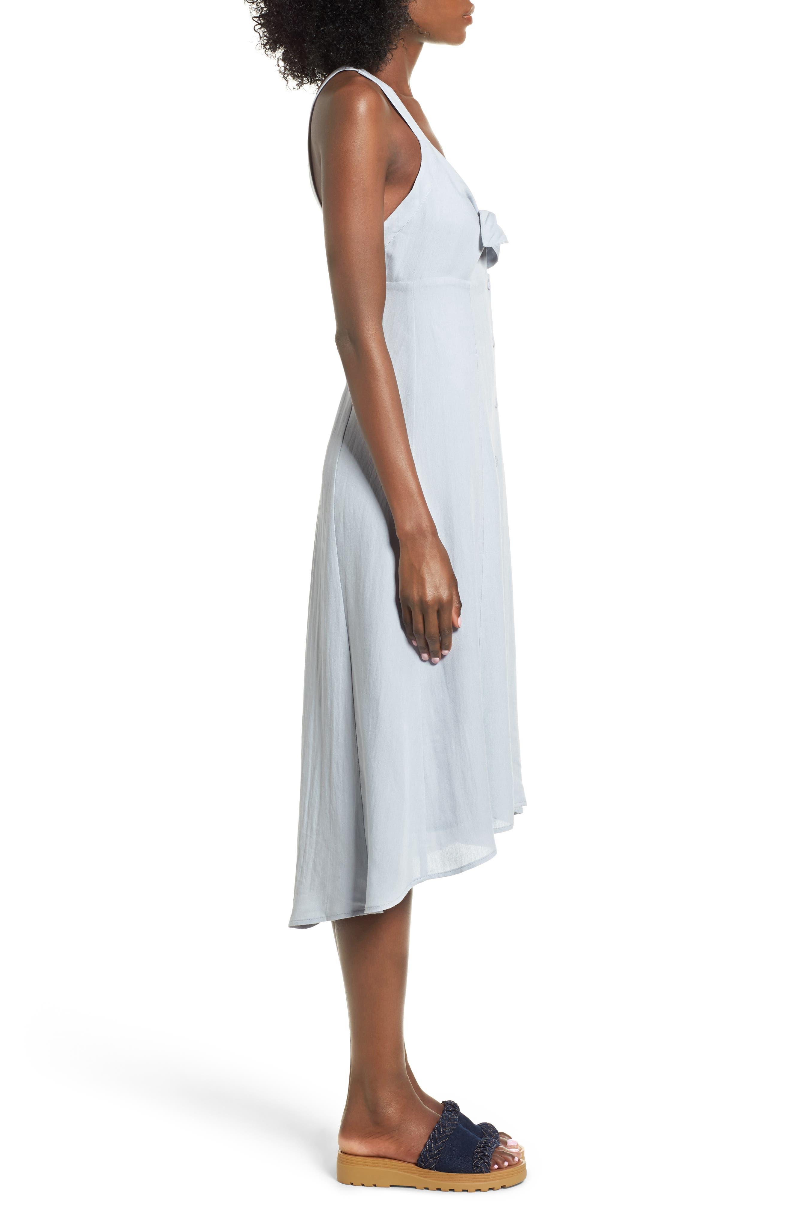 Alternate Image 3  - ASTR the Label Tie Front Midi Dress