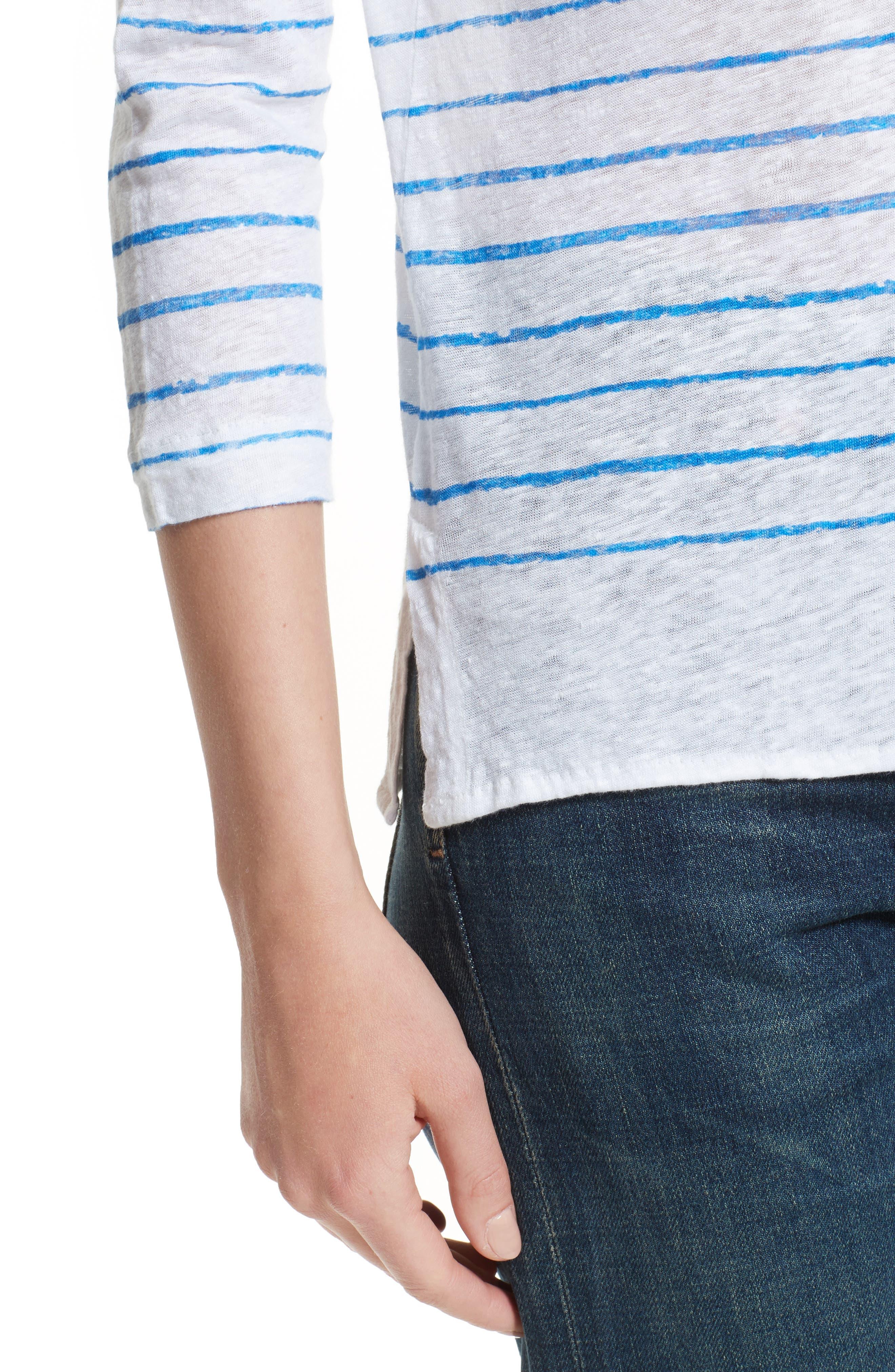 Alternate Image 4  - Majestic Filatures Vintage Stripe Linen Tee