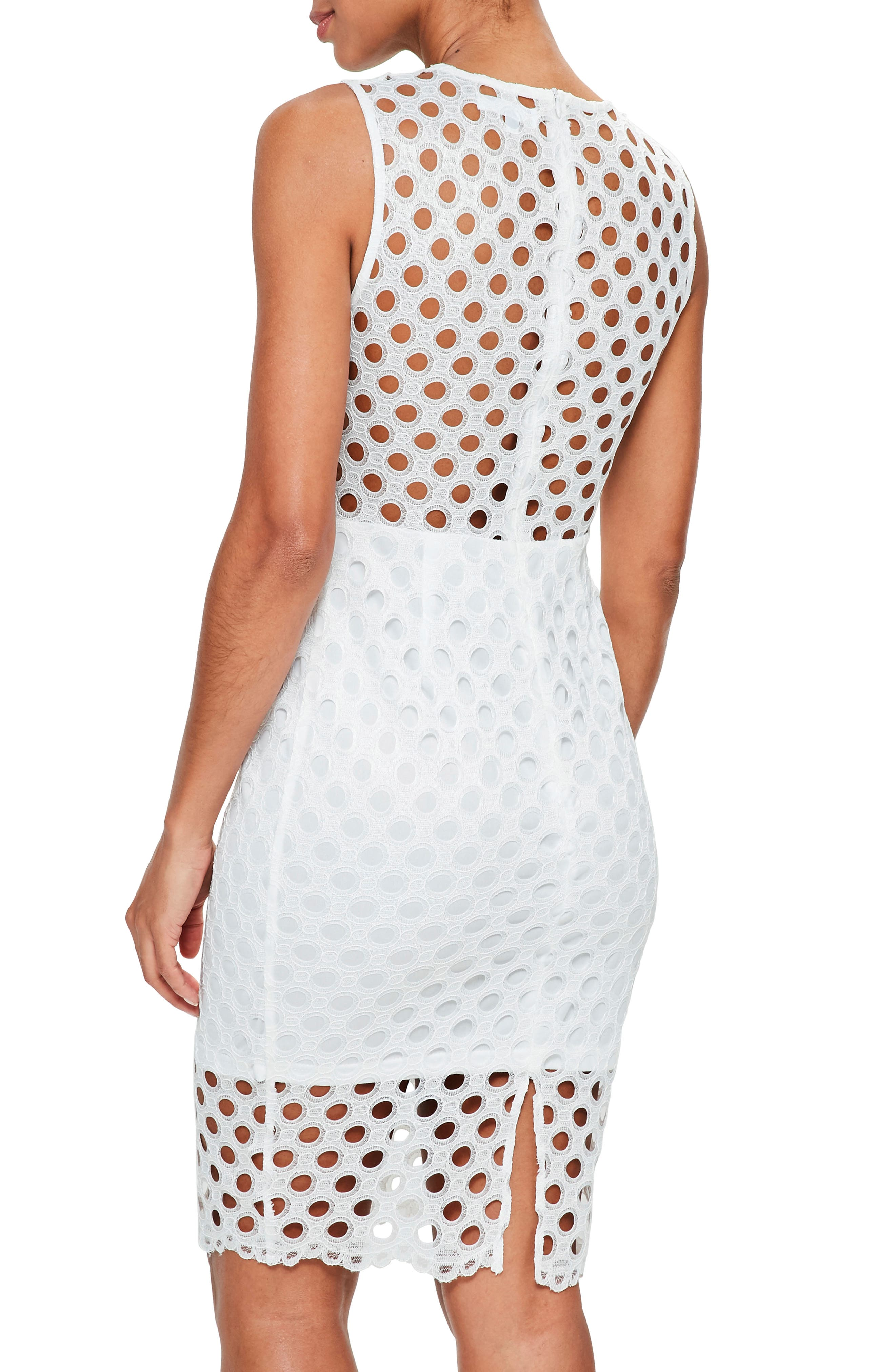 Alternate Image 3  - Missguided Circle Lace Midi Dress
