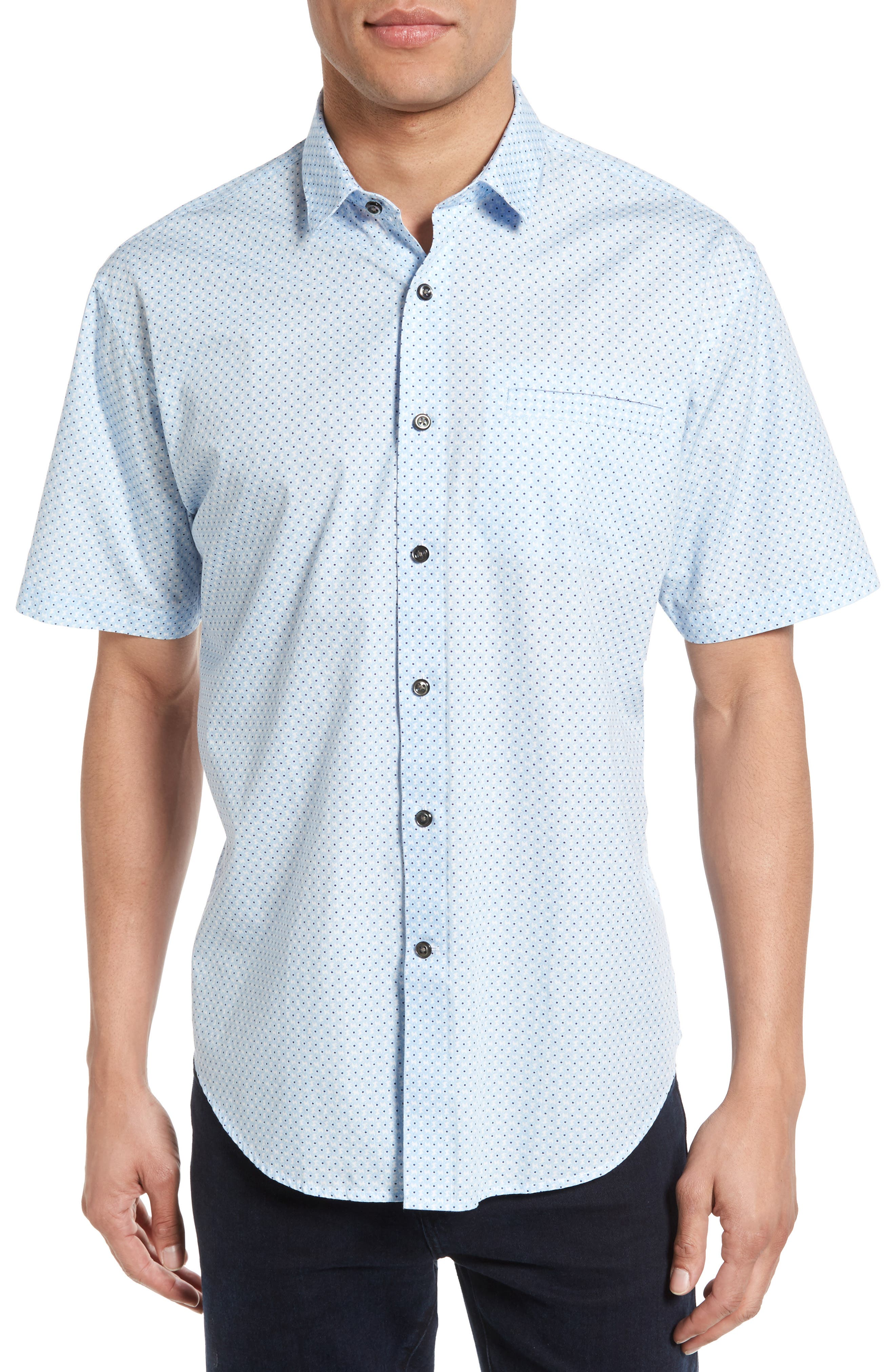 James Campbell Abstract Floral Sport Shirt