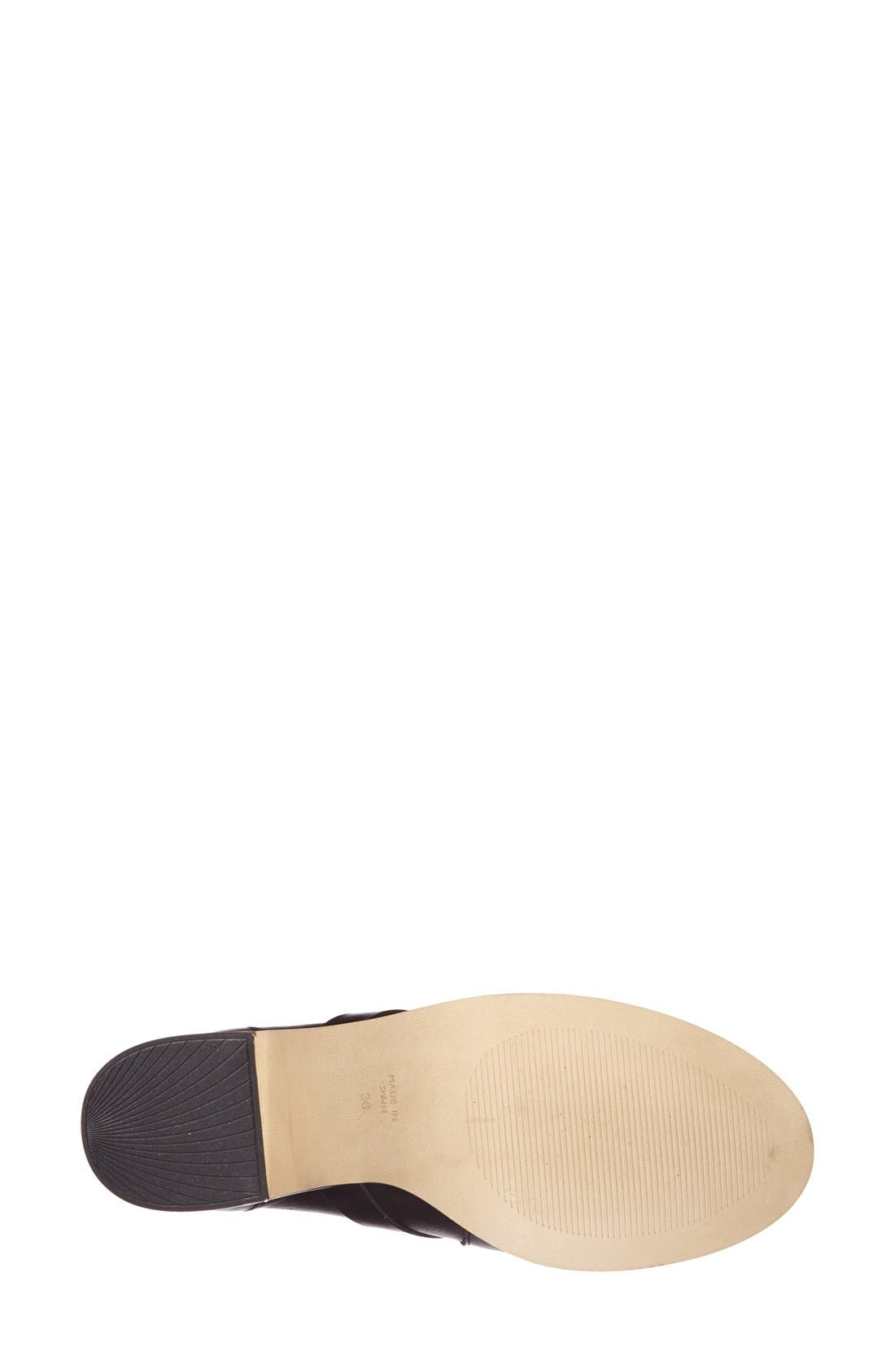 Alternate Image 4  - Topshop 'Mirror' Crisscross Strap Leather Ankle Boot (Women)