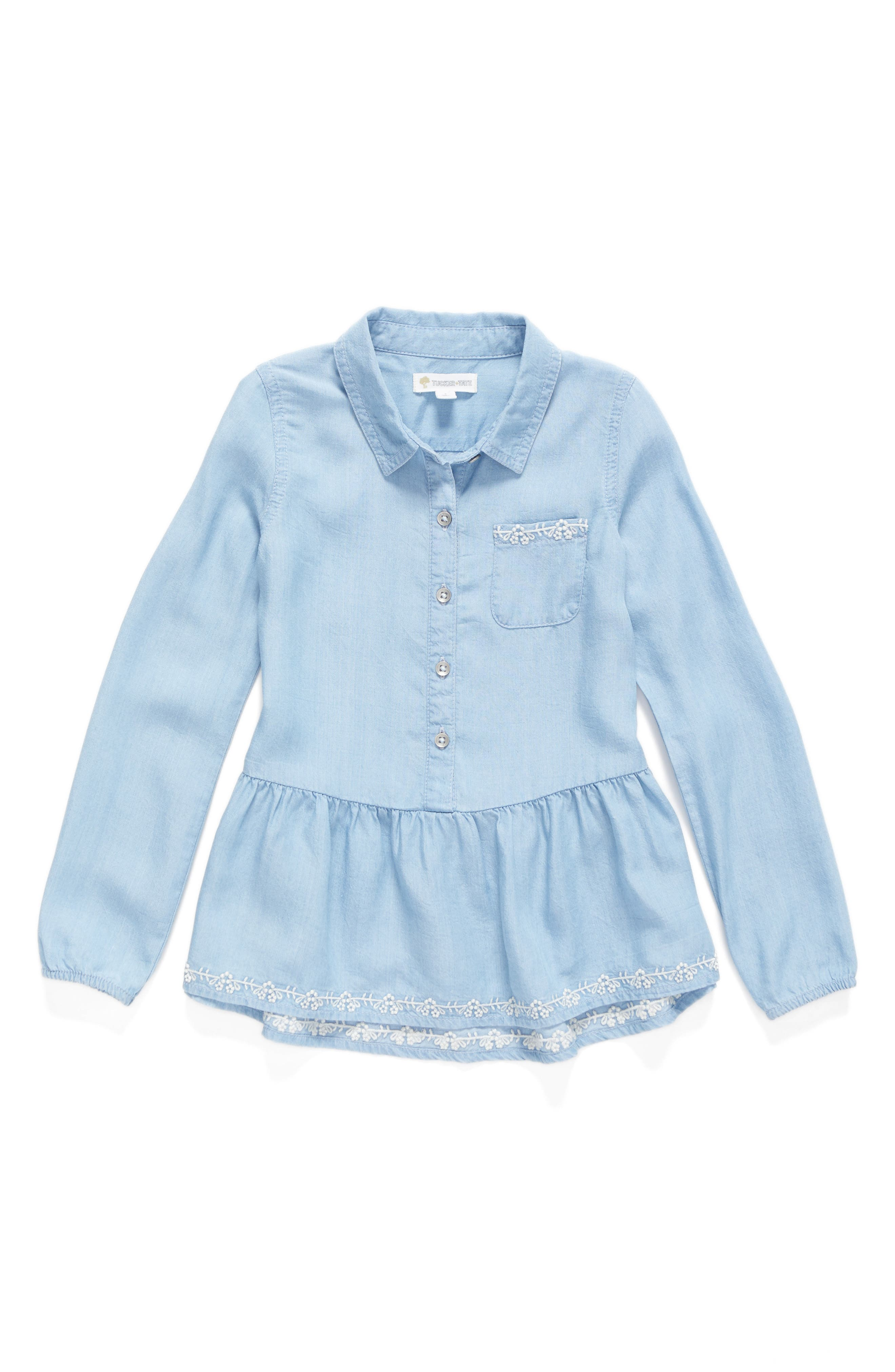 Tucker + Tate Chambray Top (Toddler Girls, Little Girls & Big Girls)