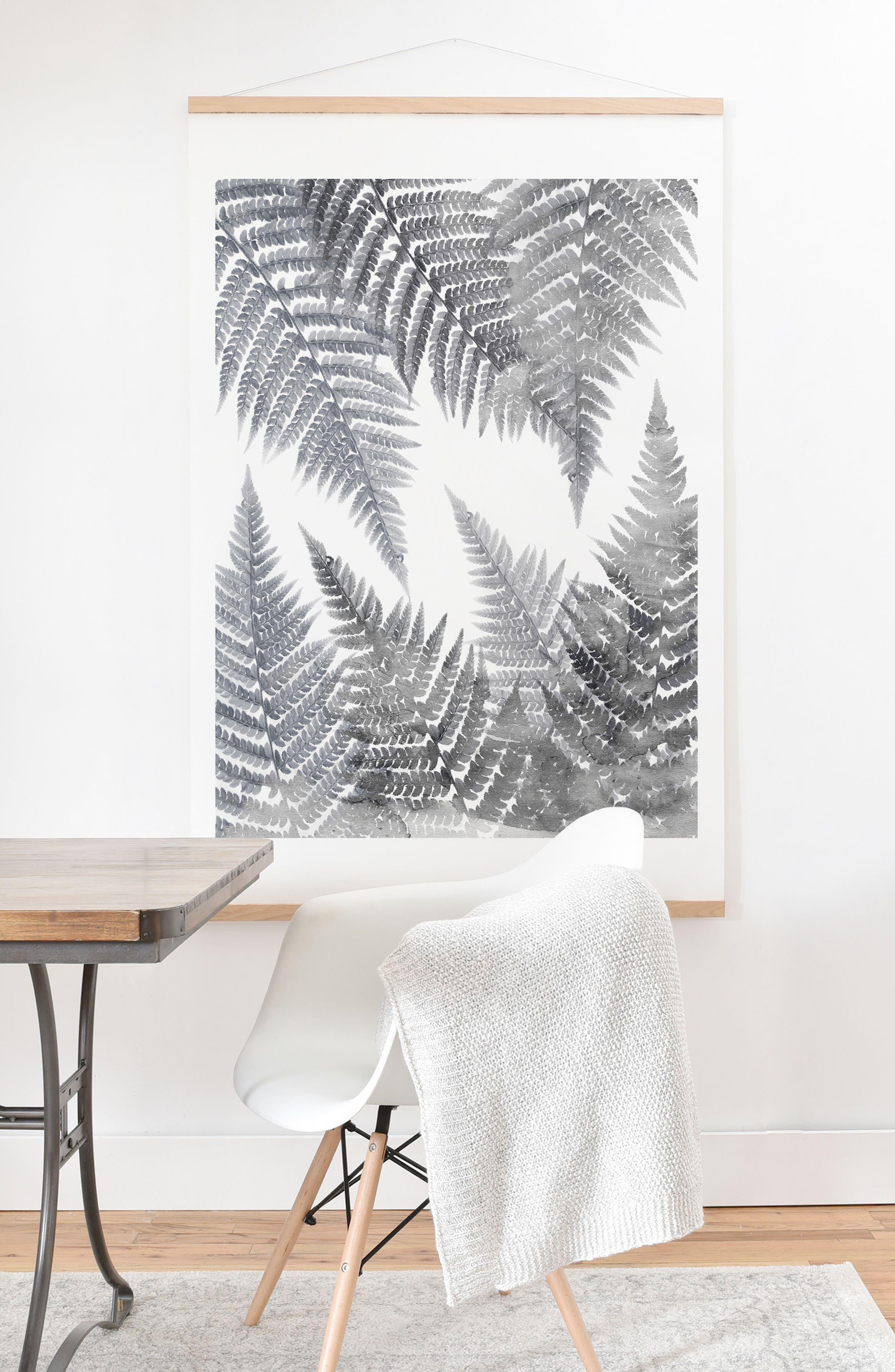 Alternate Image 2  - DENY Designs Fern Print & Oak Hanger