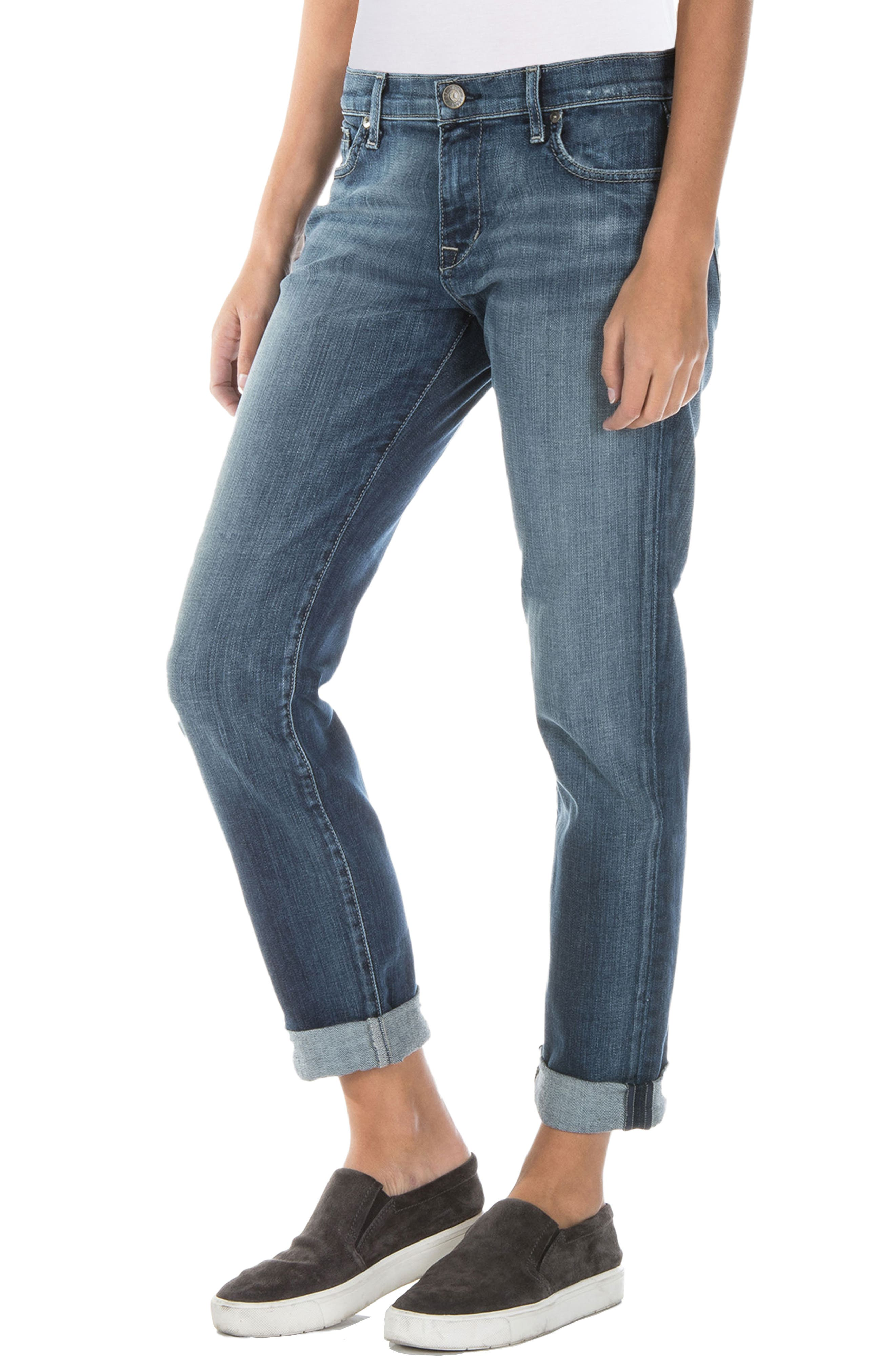 Alternate Image 2  - Fidelity Denim Axl Girlfriend Jeans (Exile Vintage)