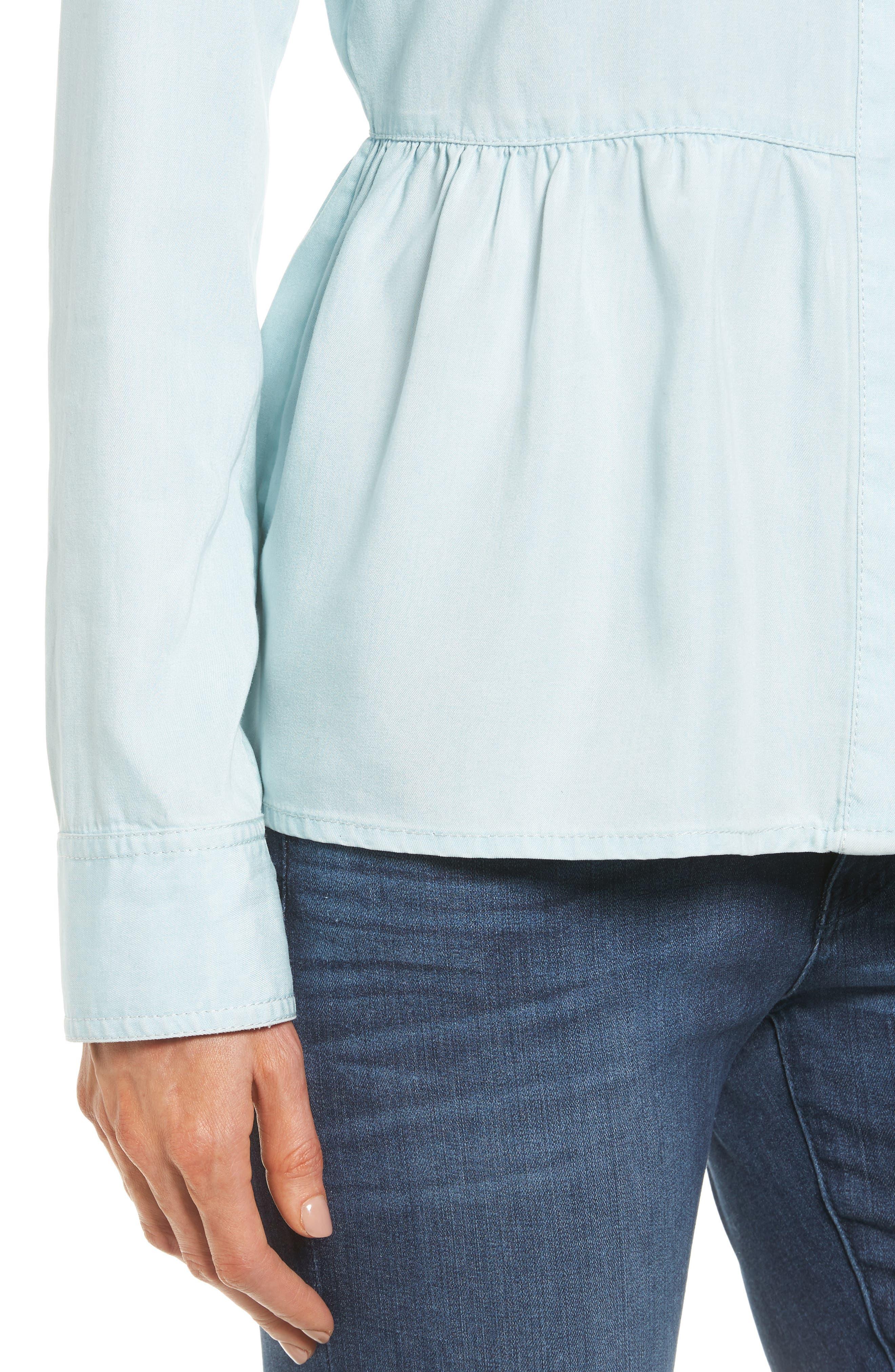 Alternate Image 4  - Caslon® Peplum Shirt (Regular & Petite)