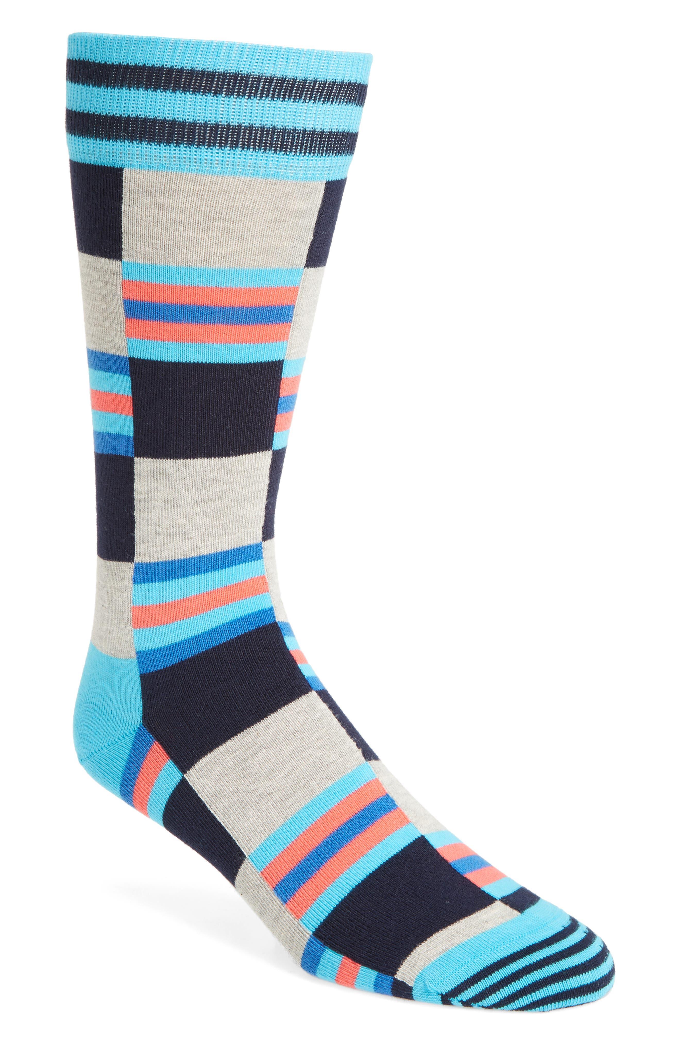Happy Socks Check & Stripe Socks