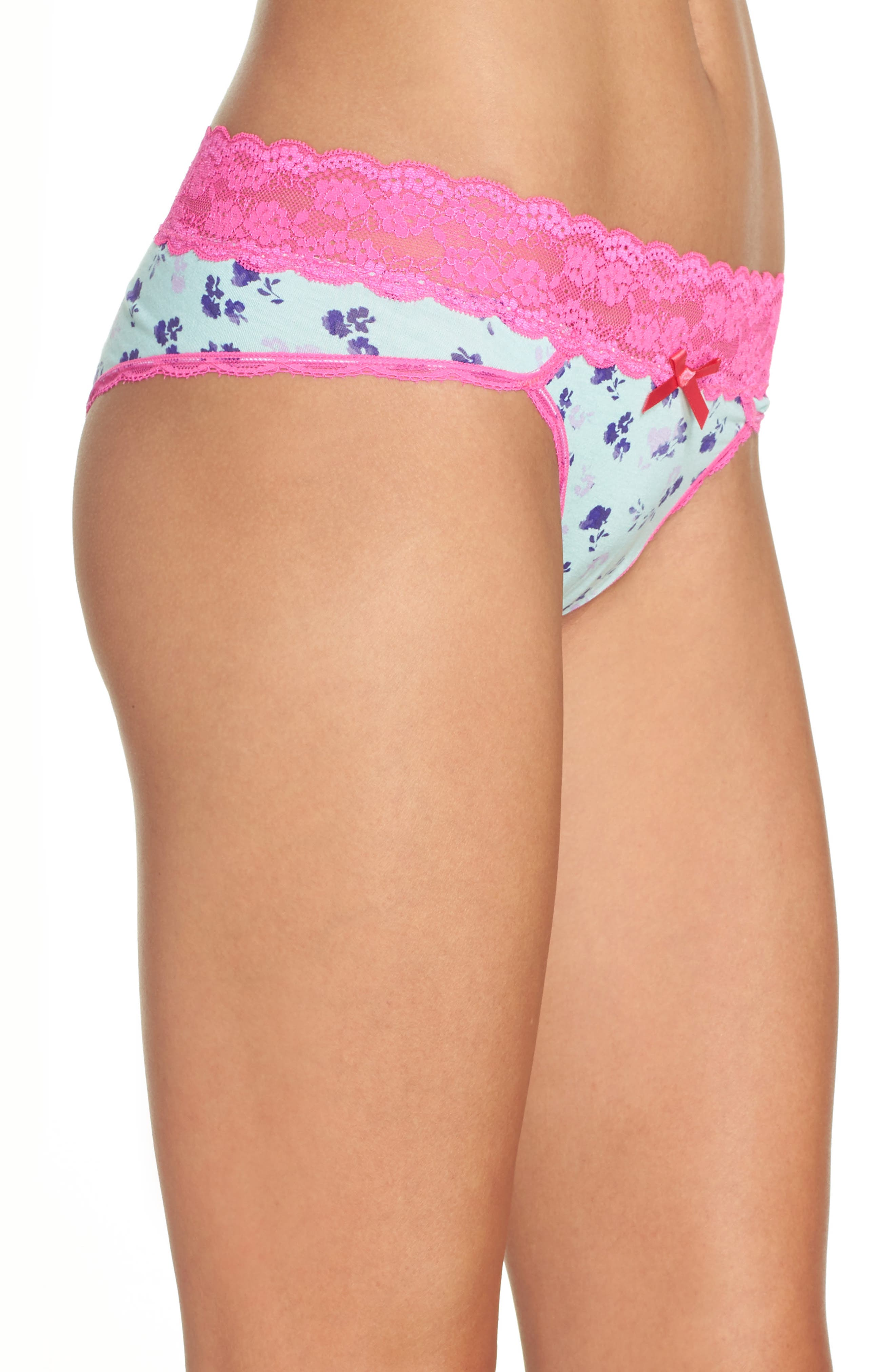Alternate Image 3  - Honeydew Intimates Lace Waistband Hipster Panties (3 for $33)