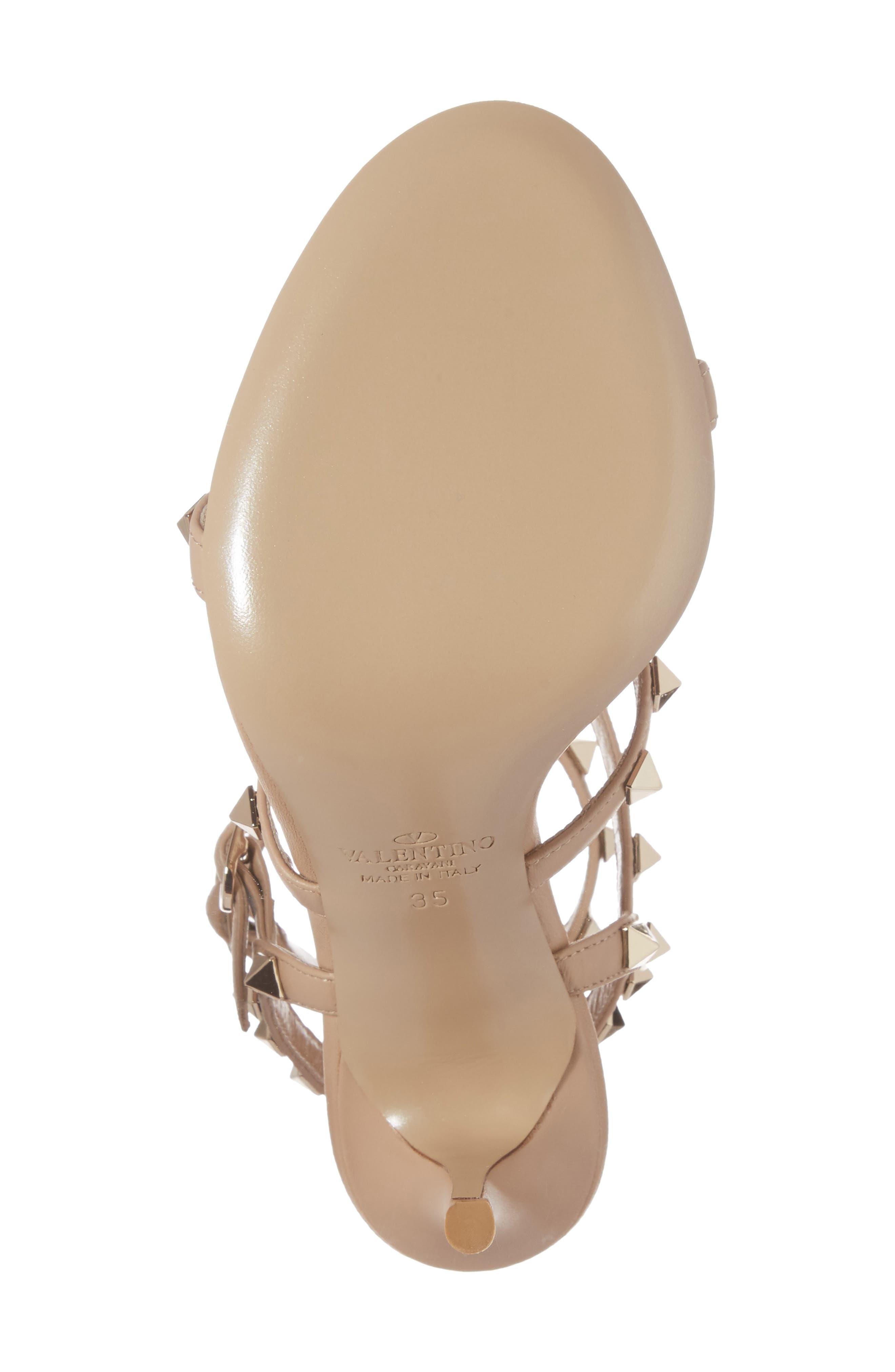 Alternate Image 6  - Valentino 'Rockstud' Ankle Strap Sandal (Women)