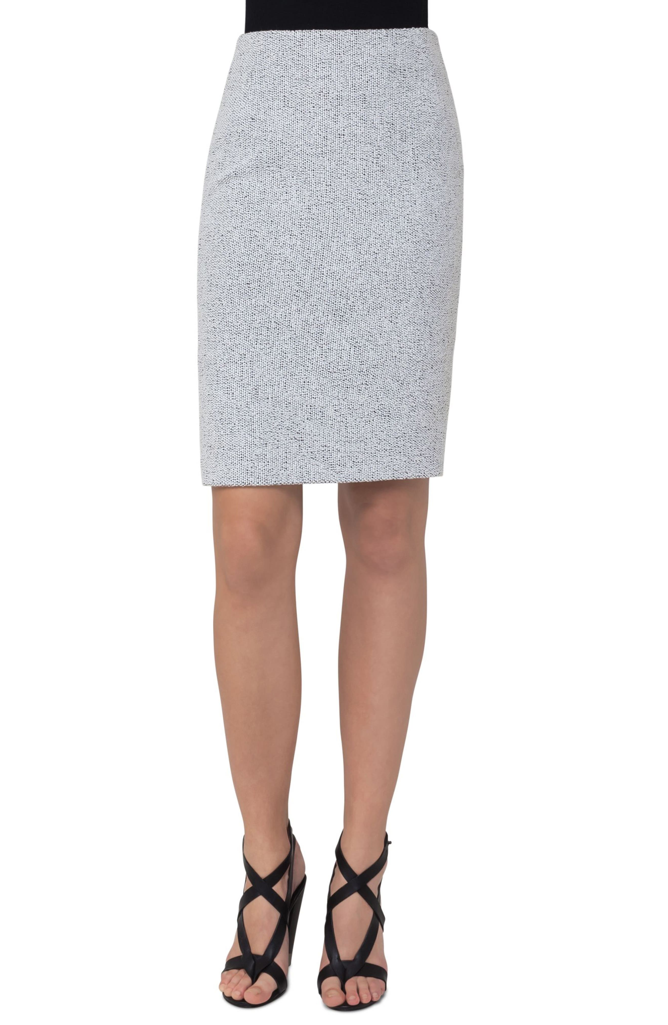 Akris punto Tweed Pencil Skirt