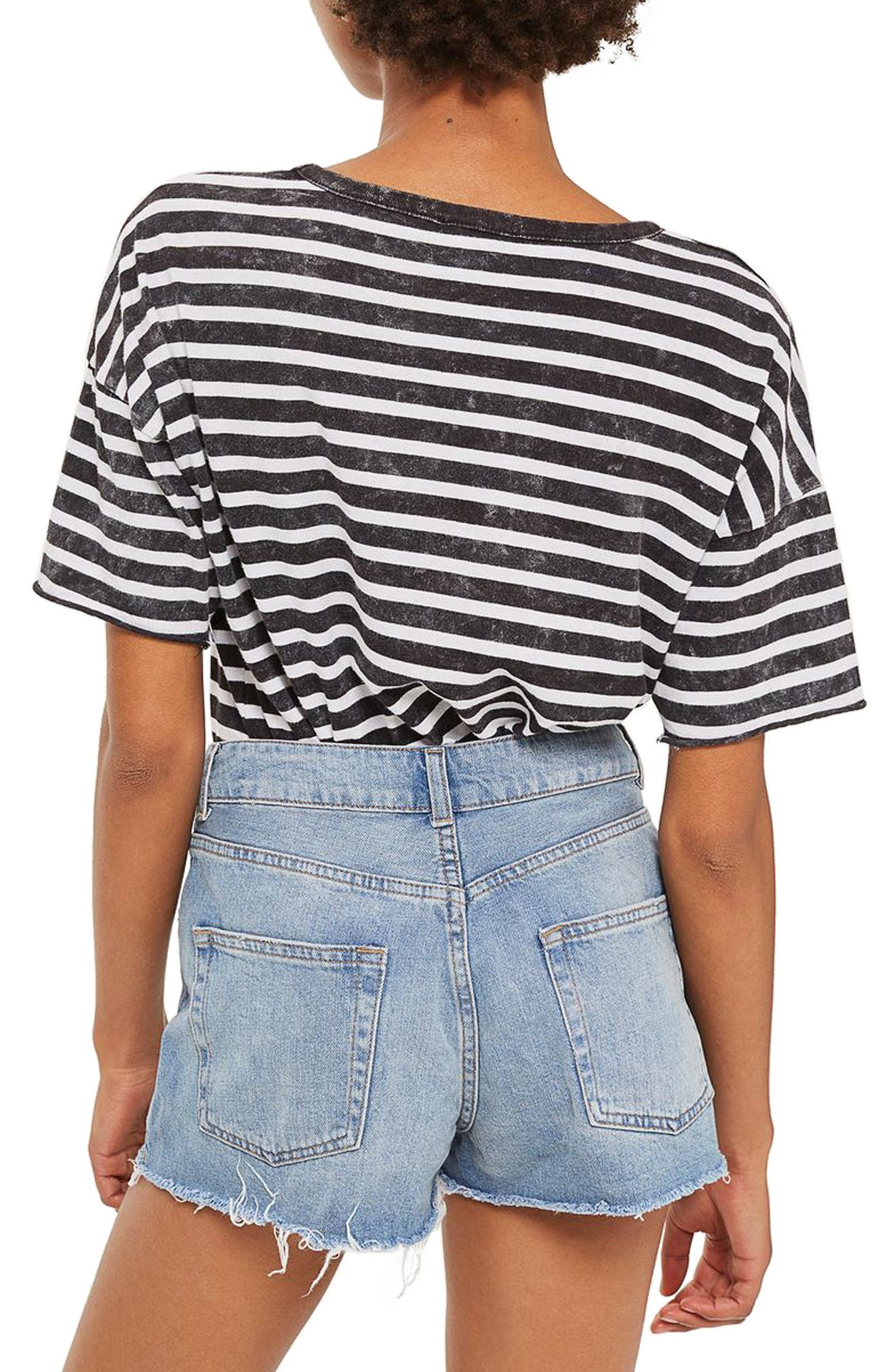 Alternate Image 2  - Topshop Longline Denim Mom Shorts (Petite)