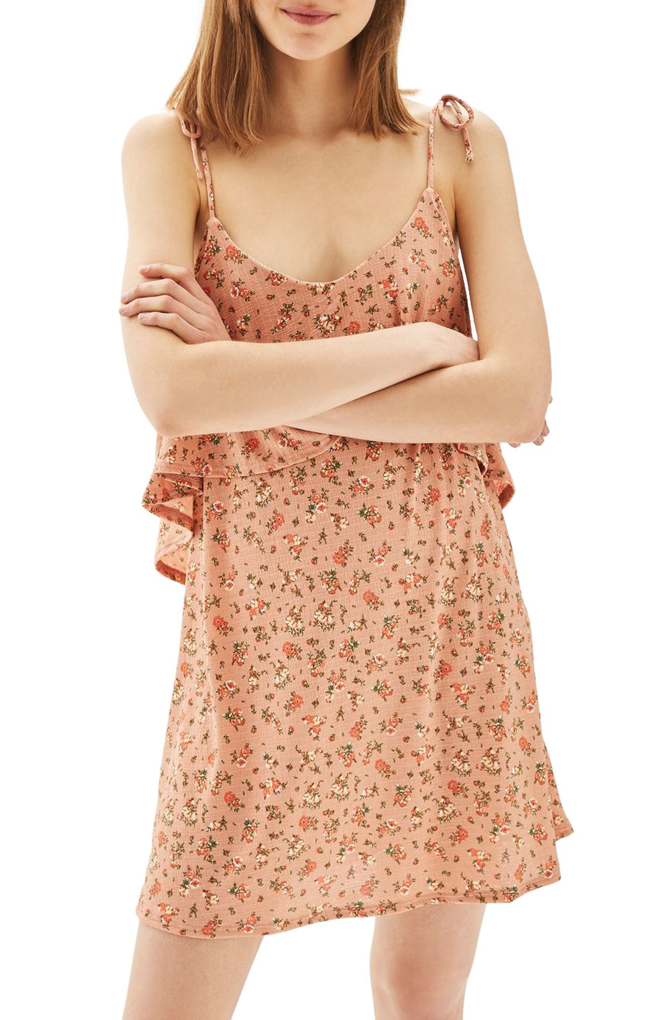 Topshop Ditsy Floral Tie Sundress