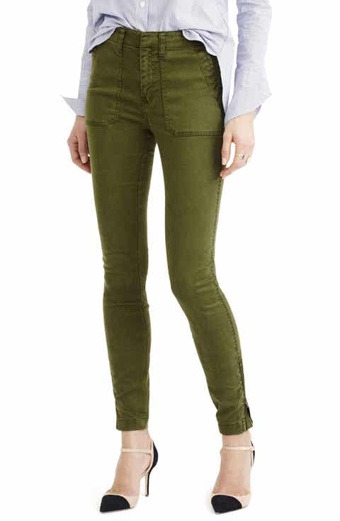 J.Crew Zip Ankle Stretch Skinny Cargo Pants (Regular   Petite)