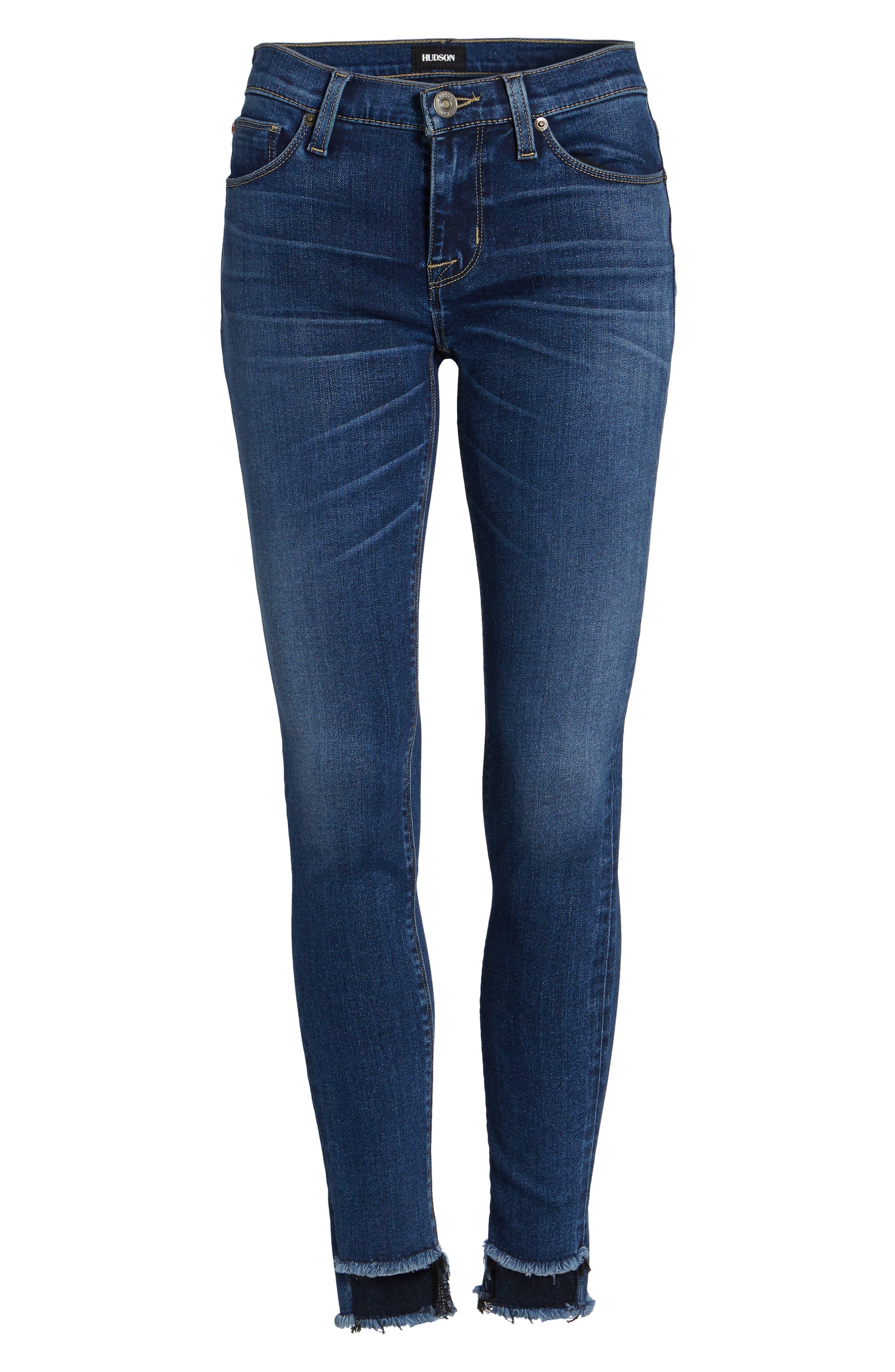 Alternate Image 6  - Hudson Jeans Colette Step Hem Skinny Jeans (Backbone)