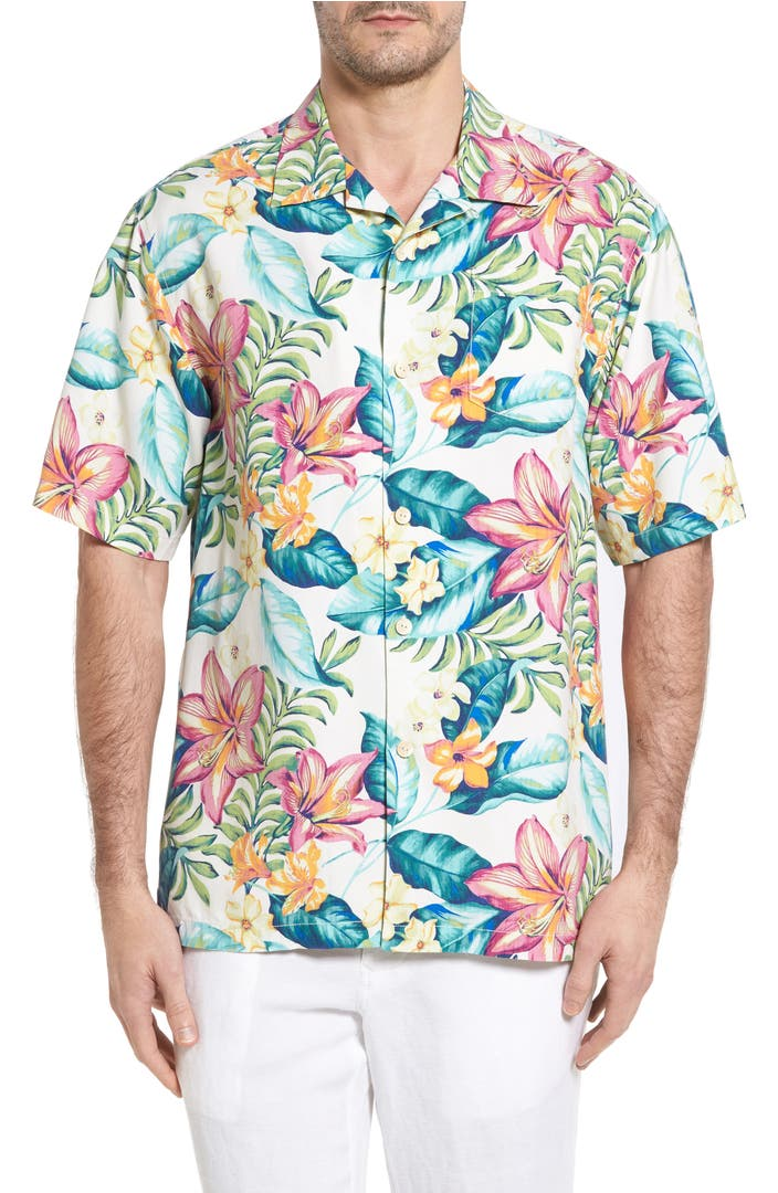 Tommy bahama tropic like it 39 s hot silk camp shirt nordstrom for Where to buy tommy bahama shirts