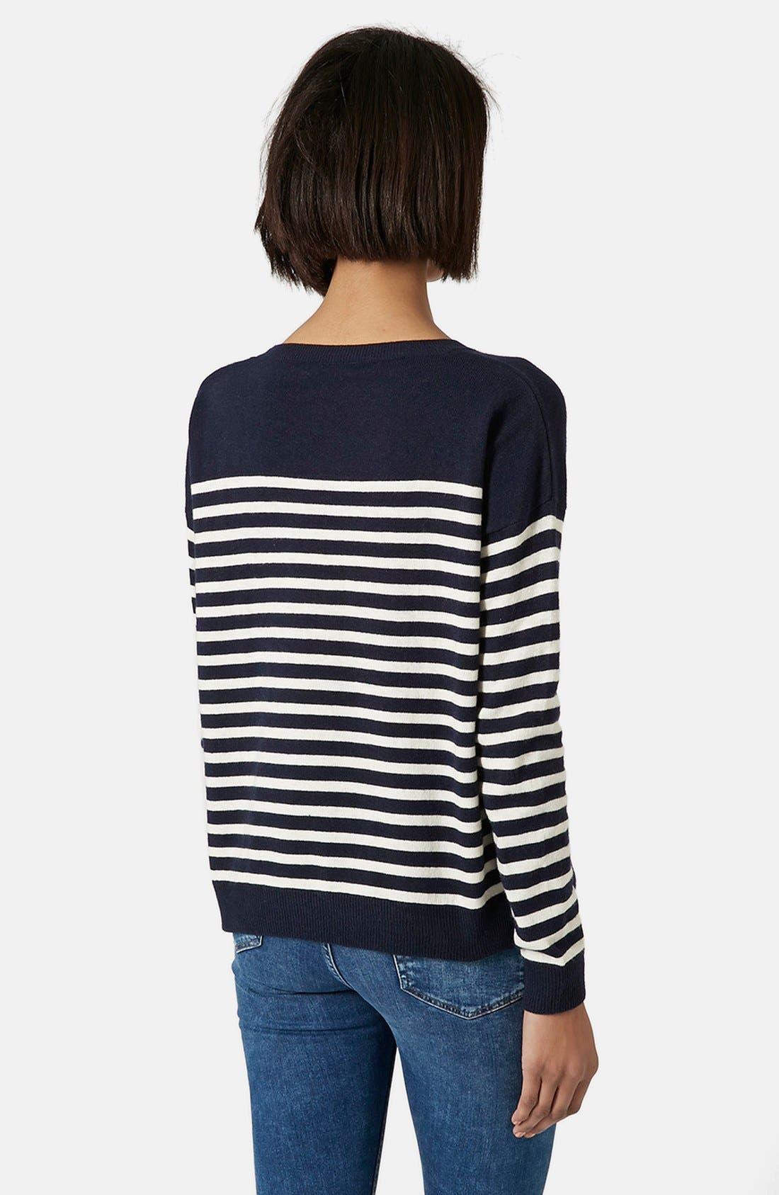 Alternate Image 2  - Topshop Breton Stripe Pullover Sweater