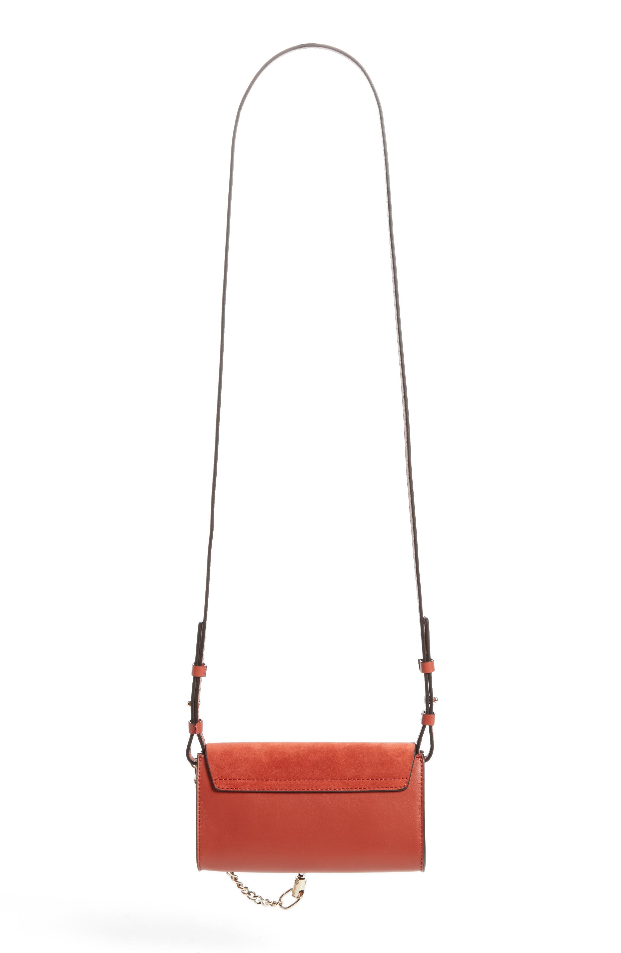 Alternate Image 2  - Chloé Mini Faye Suede & Leather Wallet on a Chain