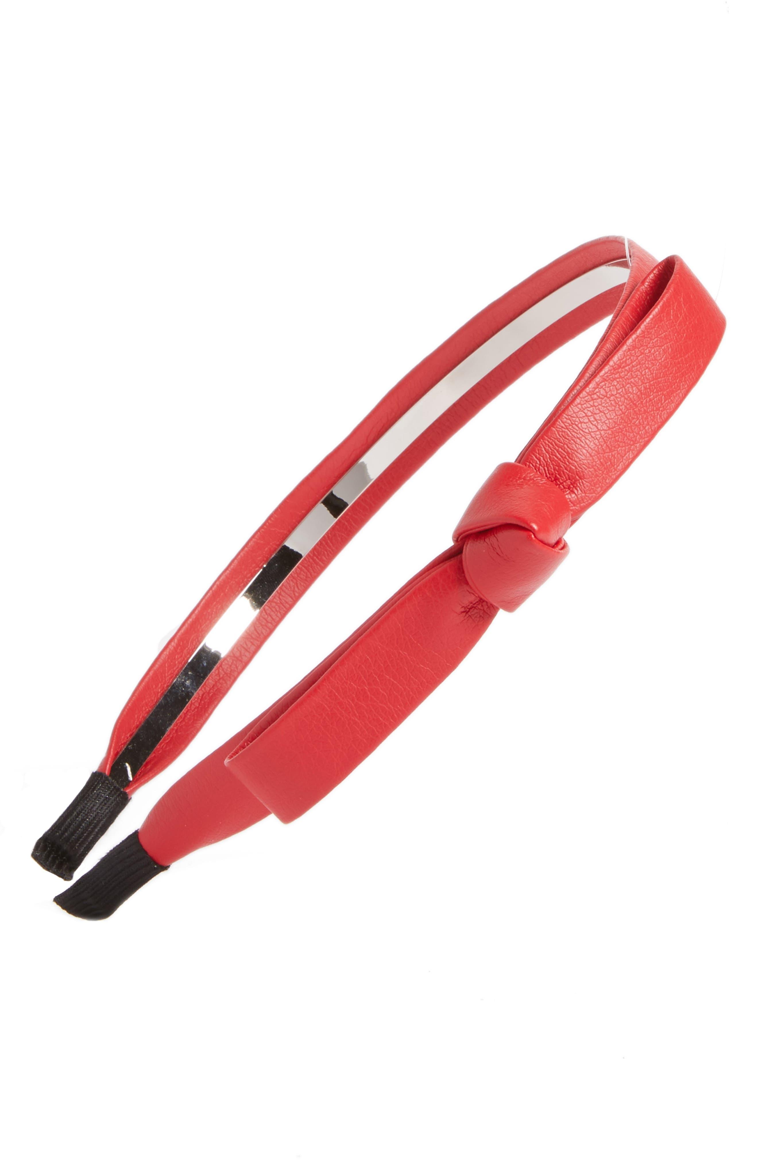 Cara Faux Leather Bow Headband
