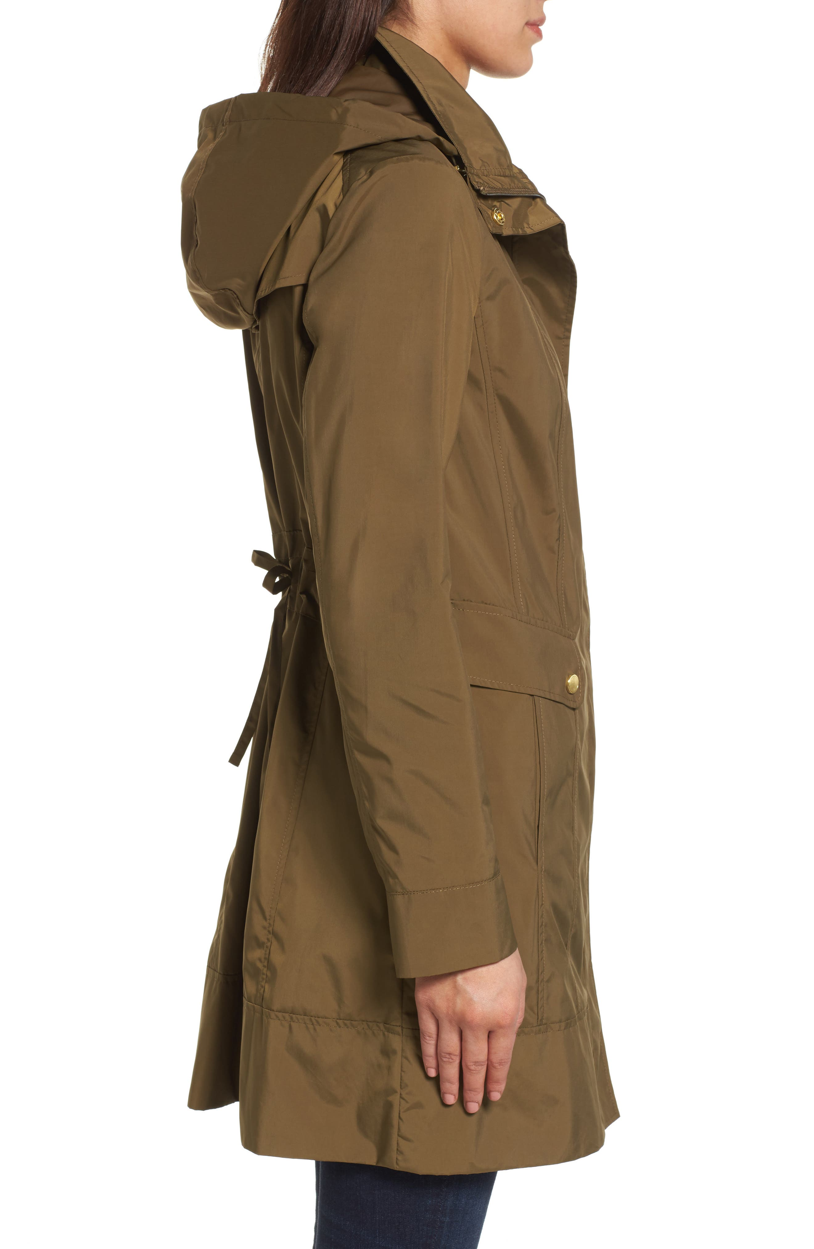 Alternate Image 3  - Cole Haan Signature Back Bow Packable Hooded Raincoat