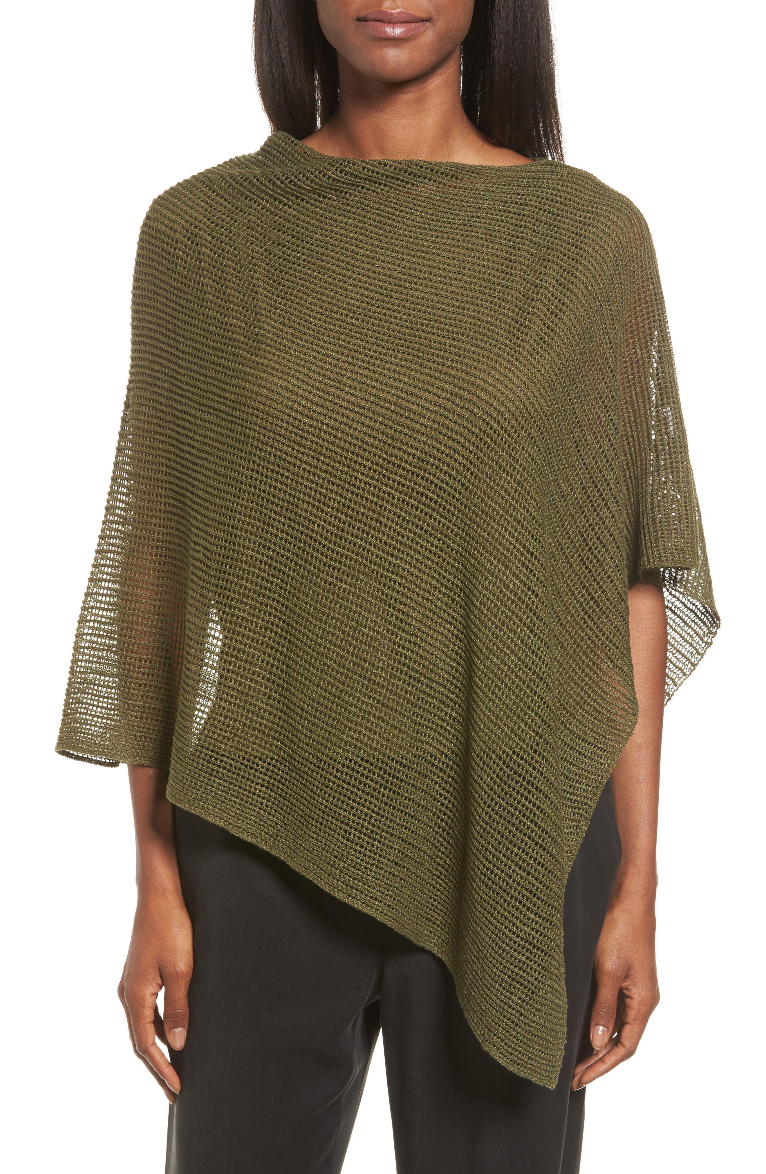 Eileen Fisher Organic Linen Poncho