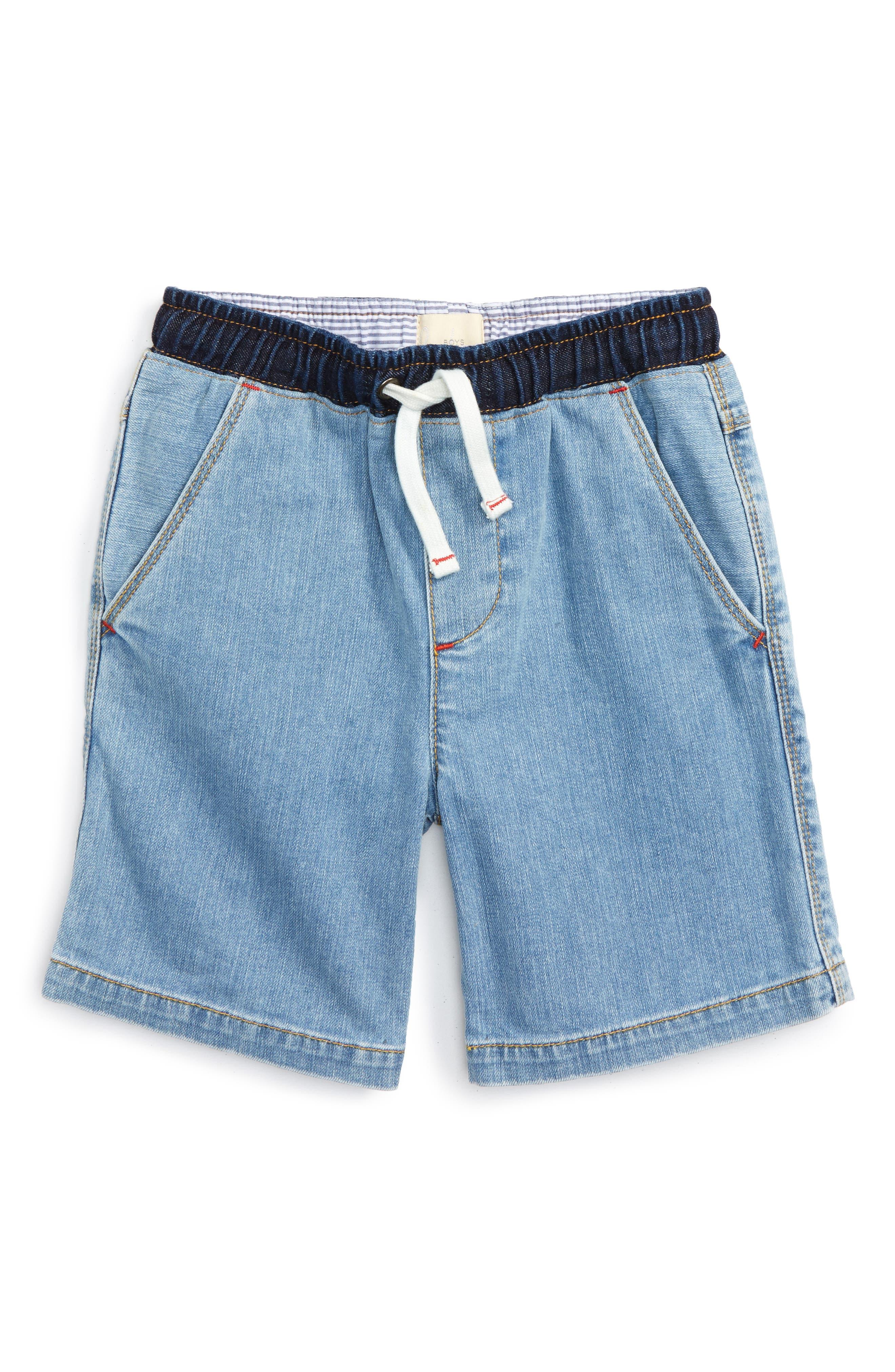 Mini Boden Cotton & Linen Shorts (Toddler Boys, Little Boys & Big Boys)