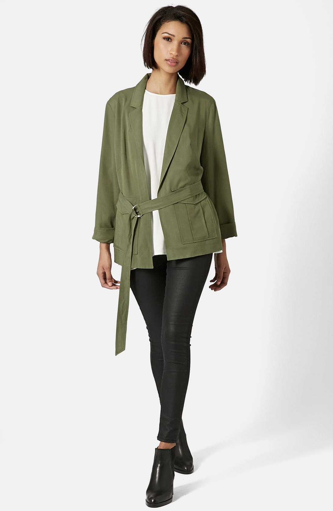 Alternate Image 5  - Topshop Belted Utility Jacket