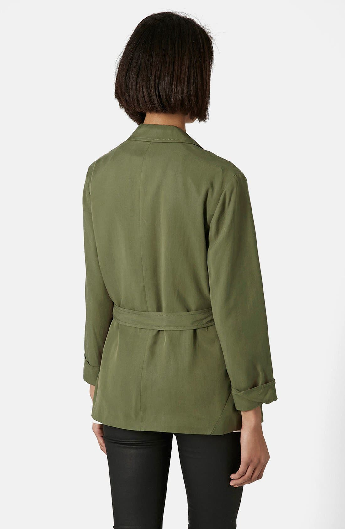 Alternate Image 2  - Topshop Belted Utility Jacket