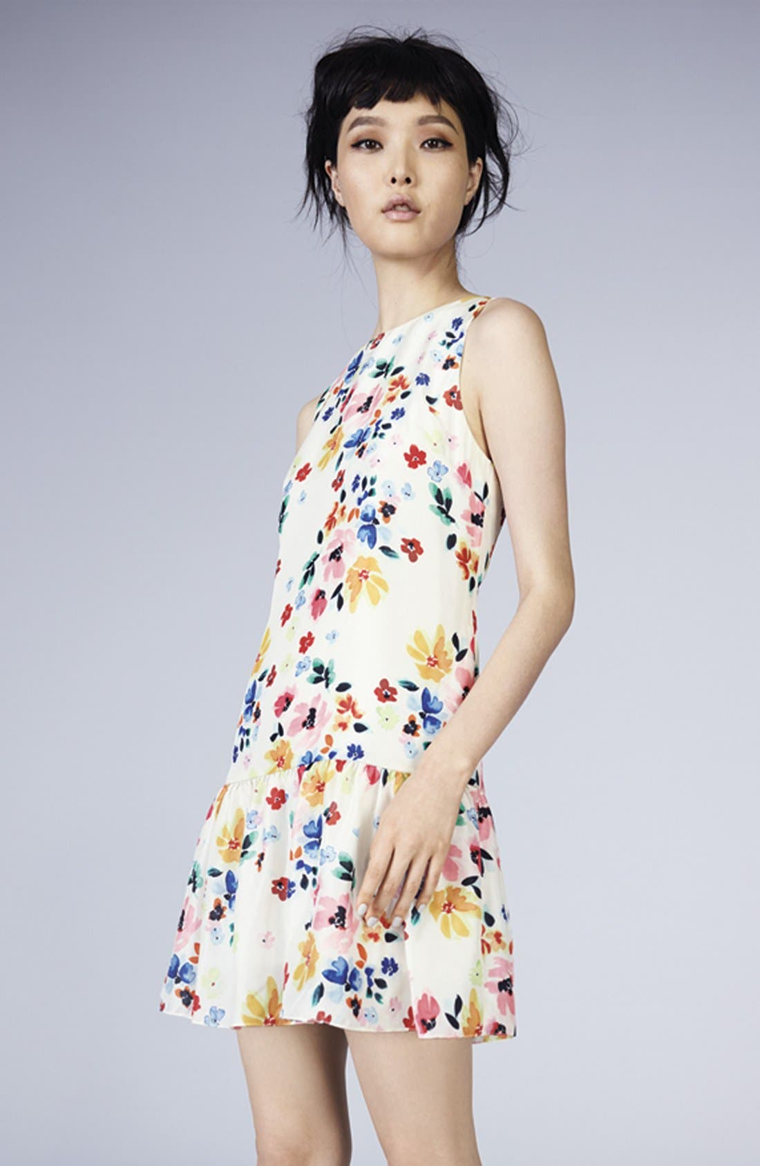 Alternate Image 5  - CeCe by Cynthia Steffe Floral Print Drop Waist Dress (Regular & Petite)