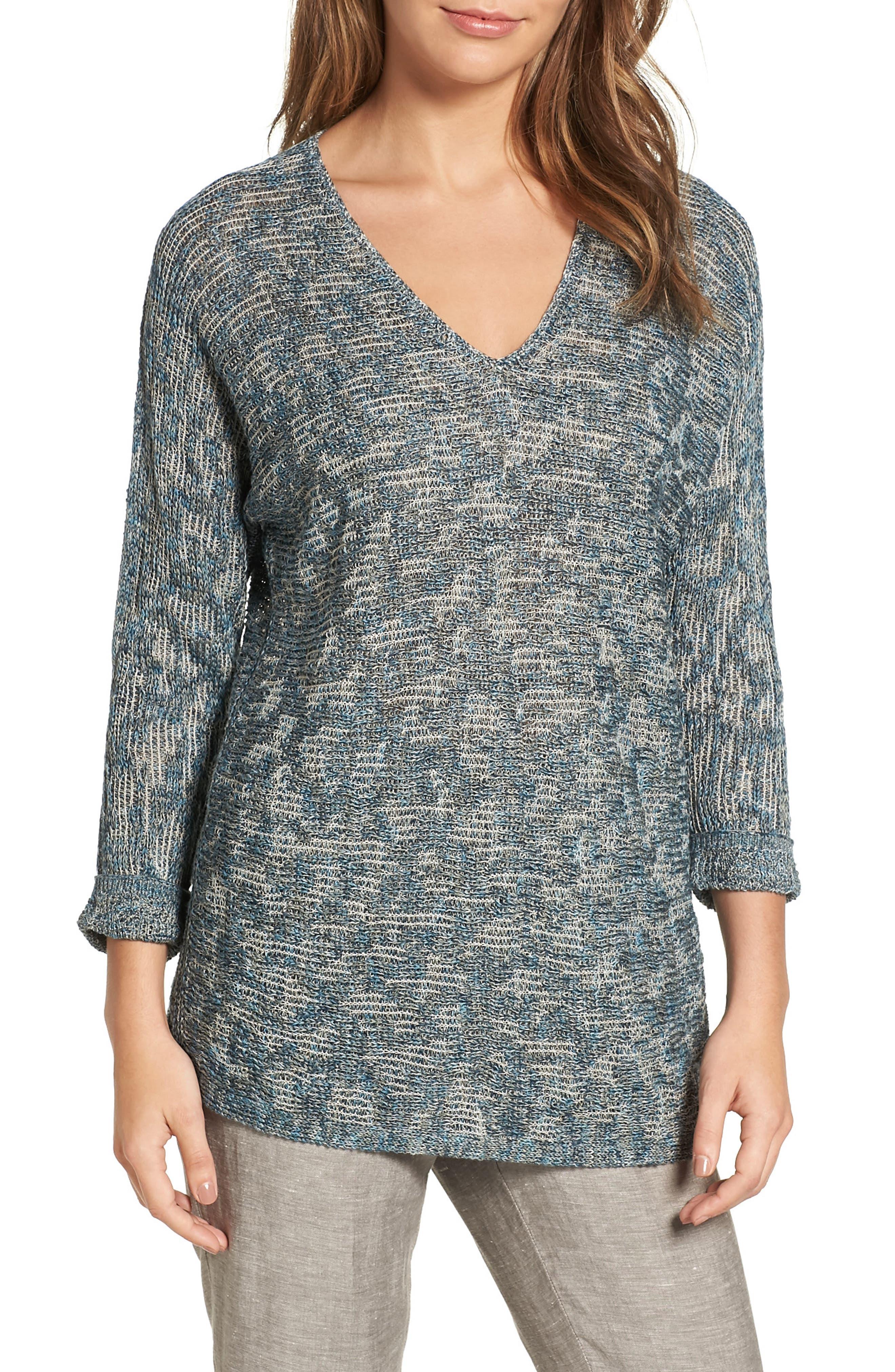 NIC+ZOE Blue Lagoon Sweater (Regular & Petite)