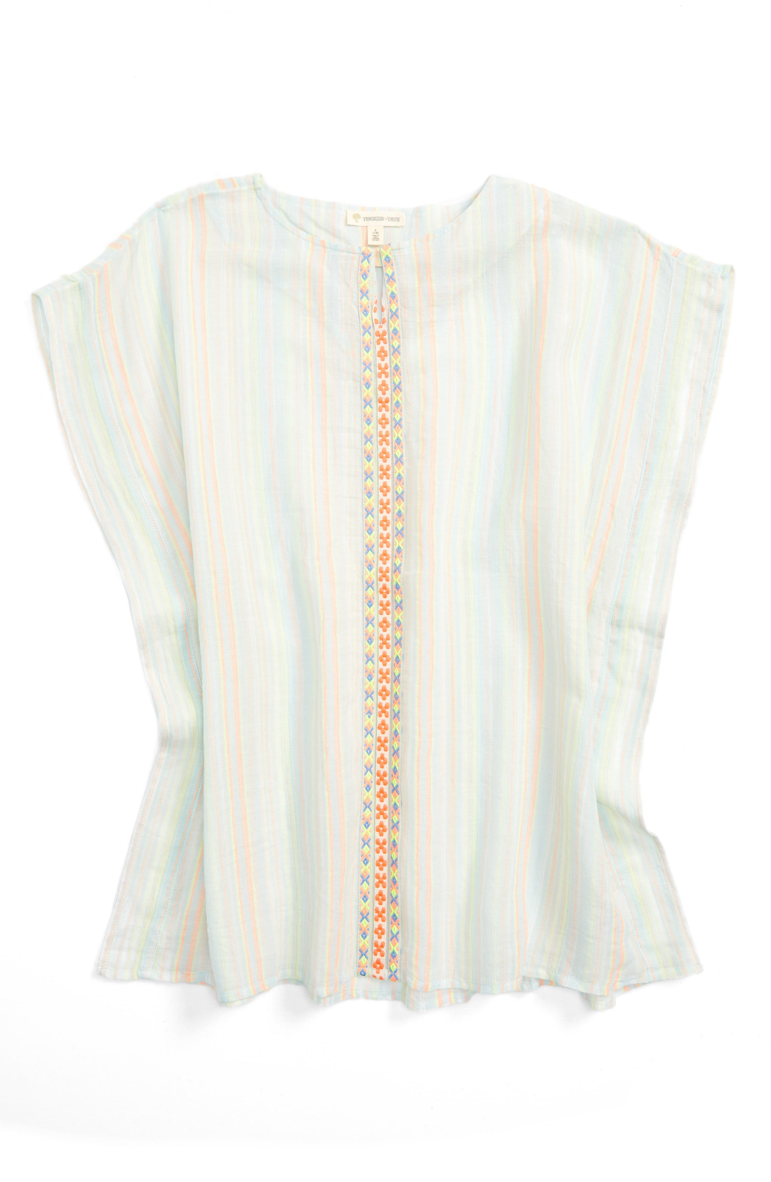 Tucker + Tate Stripe Cover-Up (Big Girls)