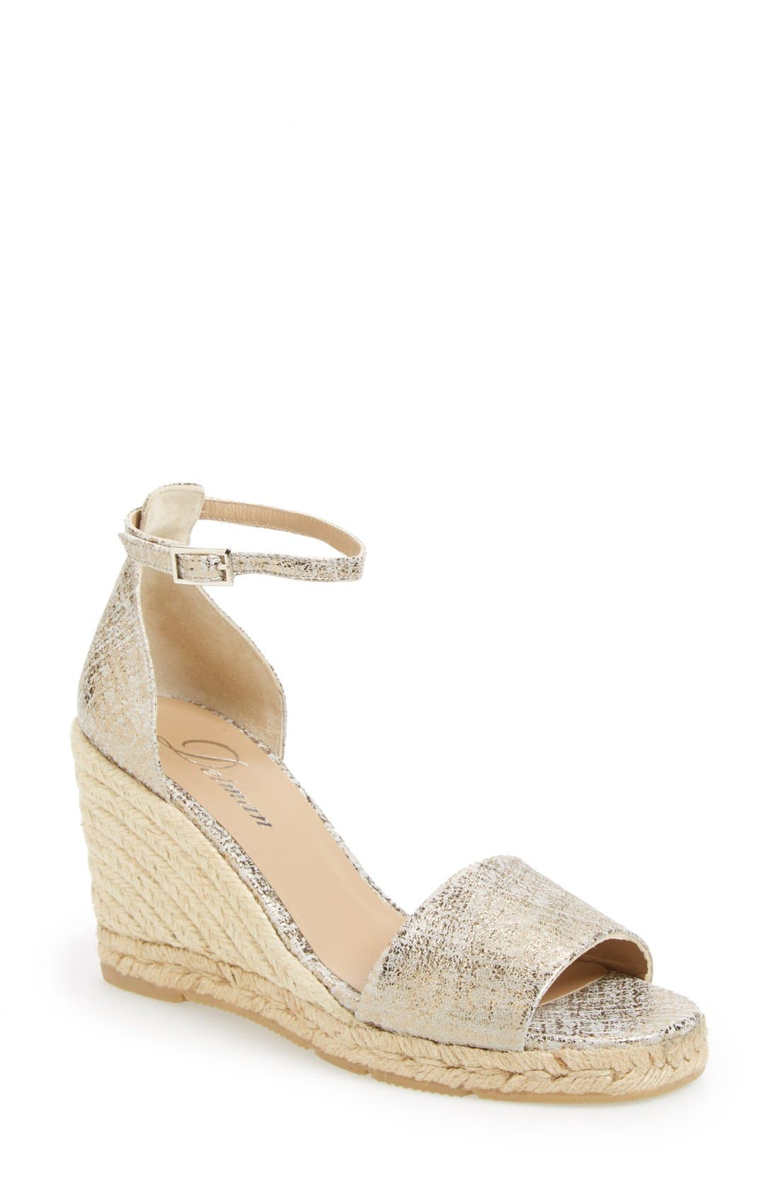 Alternate Image 1 Selected - Delman 'Tira' Ankle Strap Espadrille Wedge (Women)