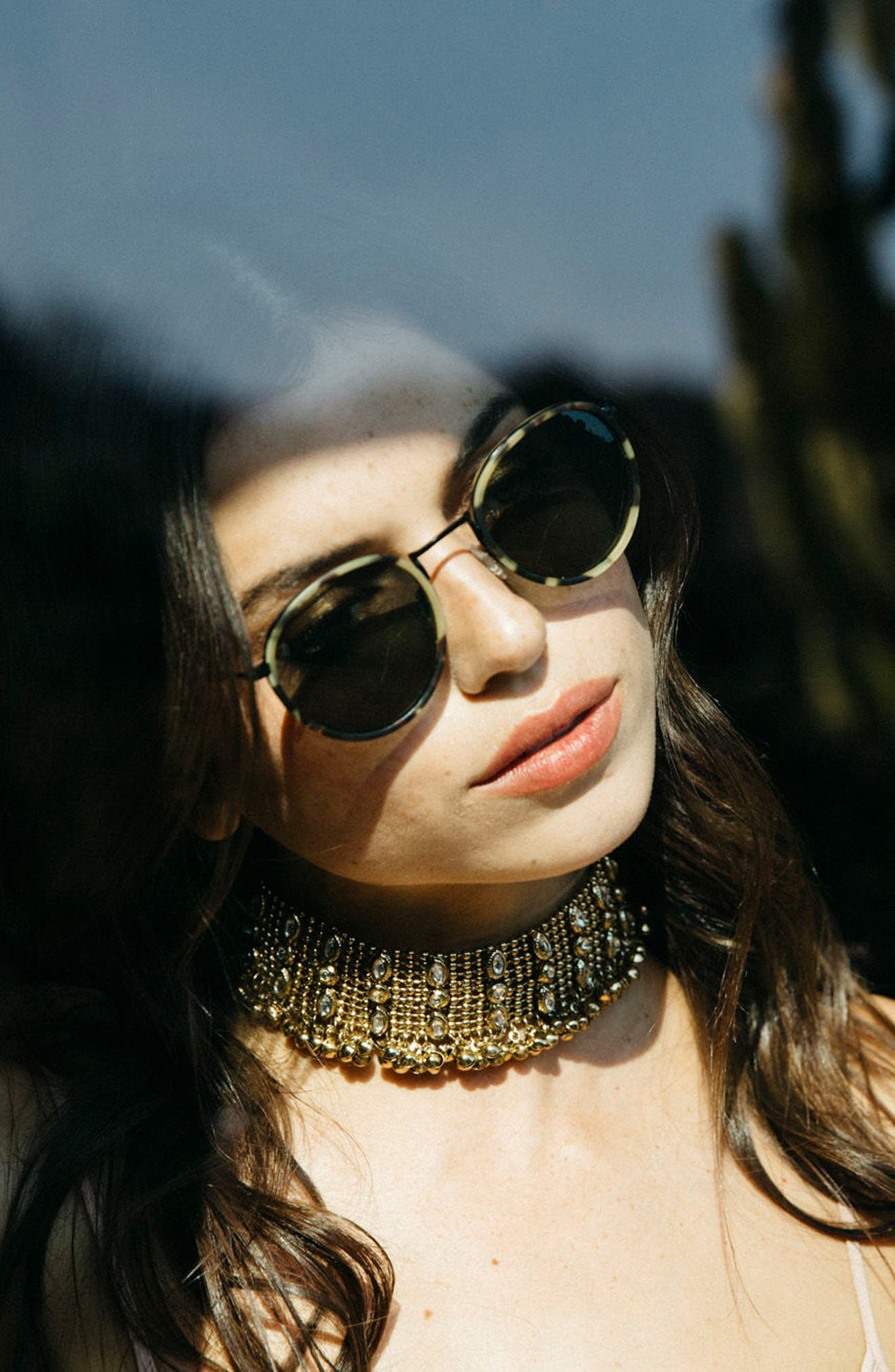 Alternate Image 3  - D'BLANC Prologue 48mm Round Sunglasses