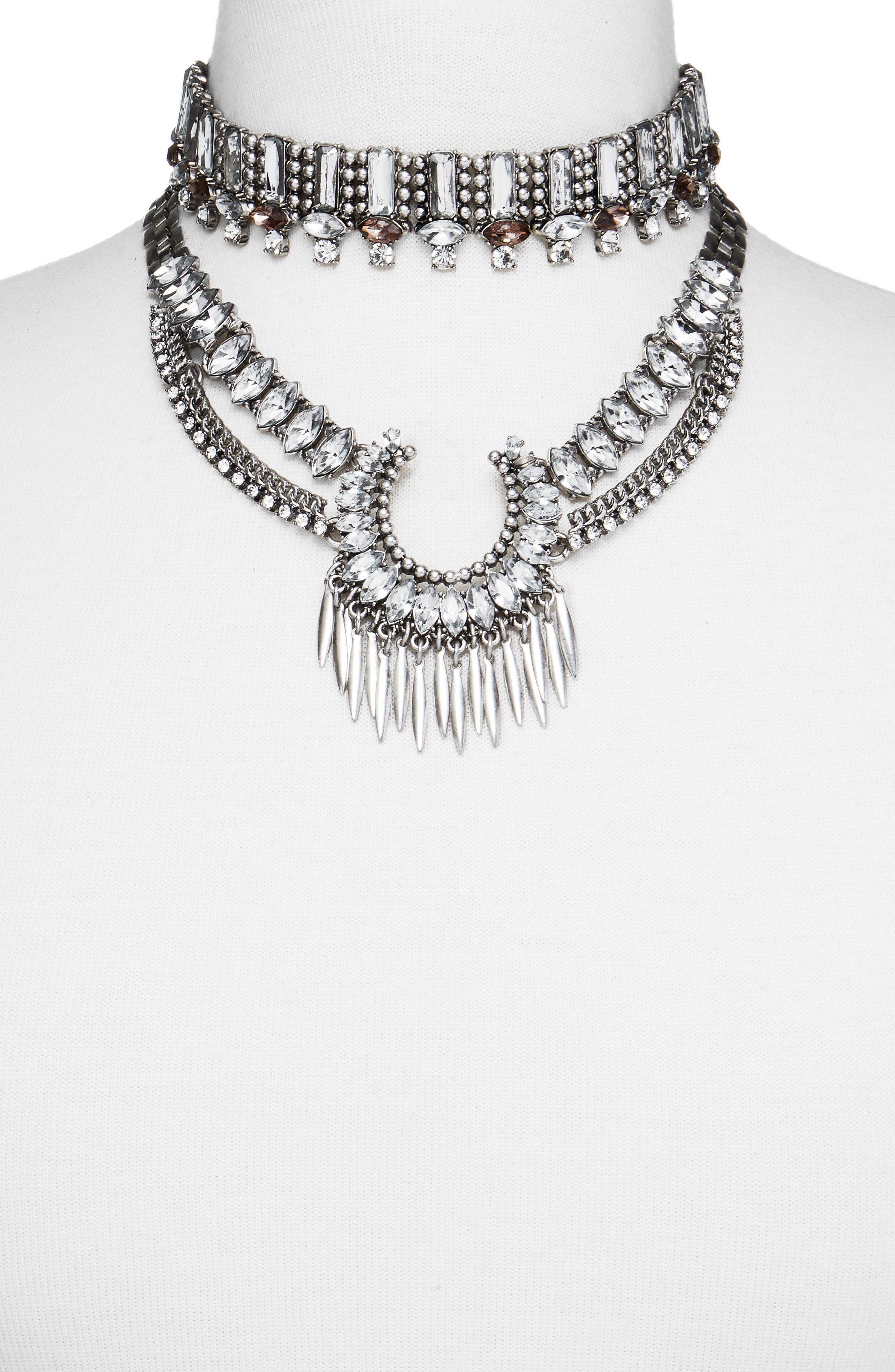 BaubleBar Pandora Choker Bib Necklace