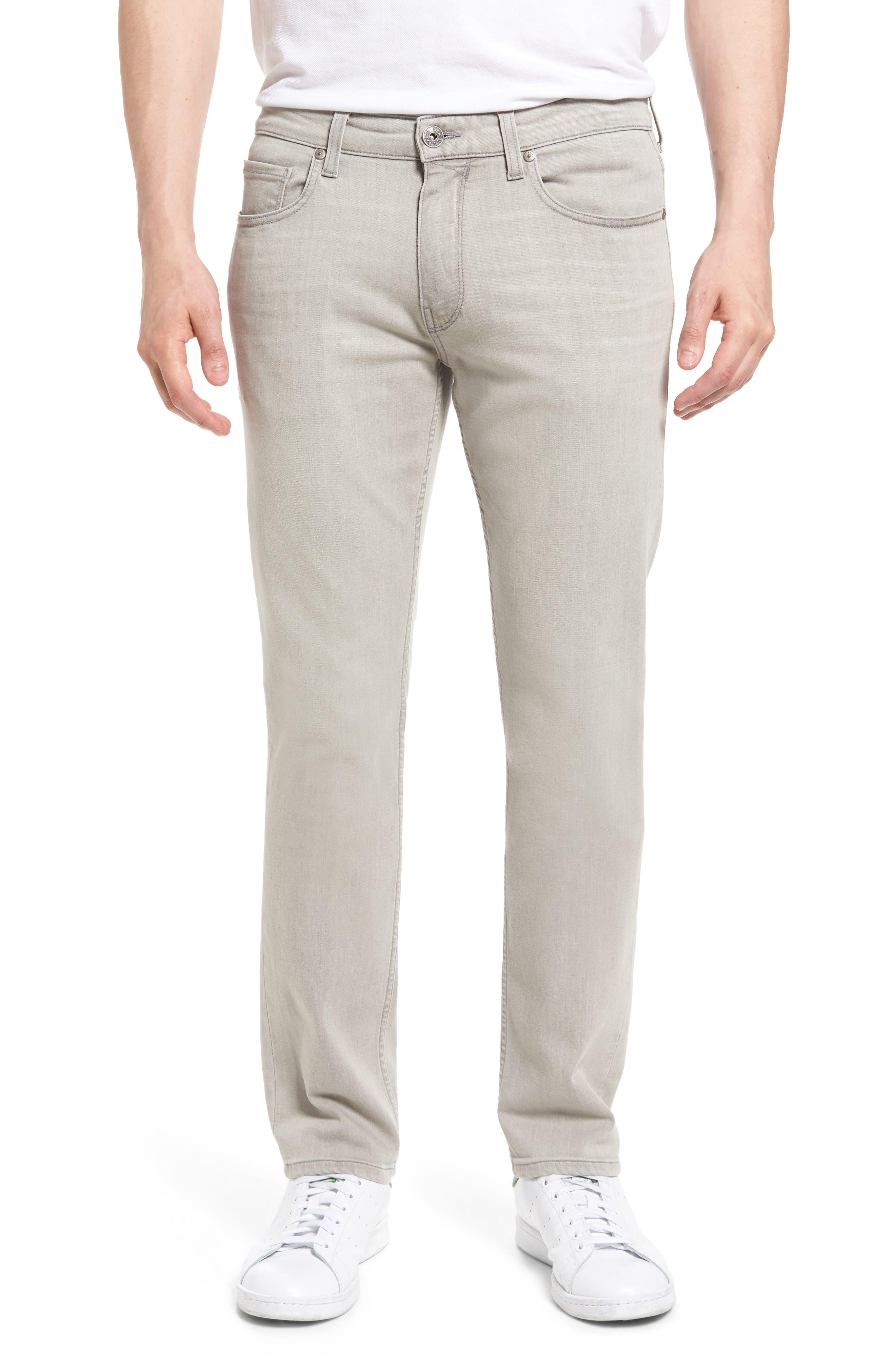PAIGE Lennox Slim Fit Jeans (Grey Bay)