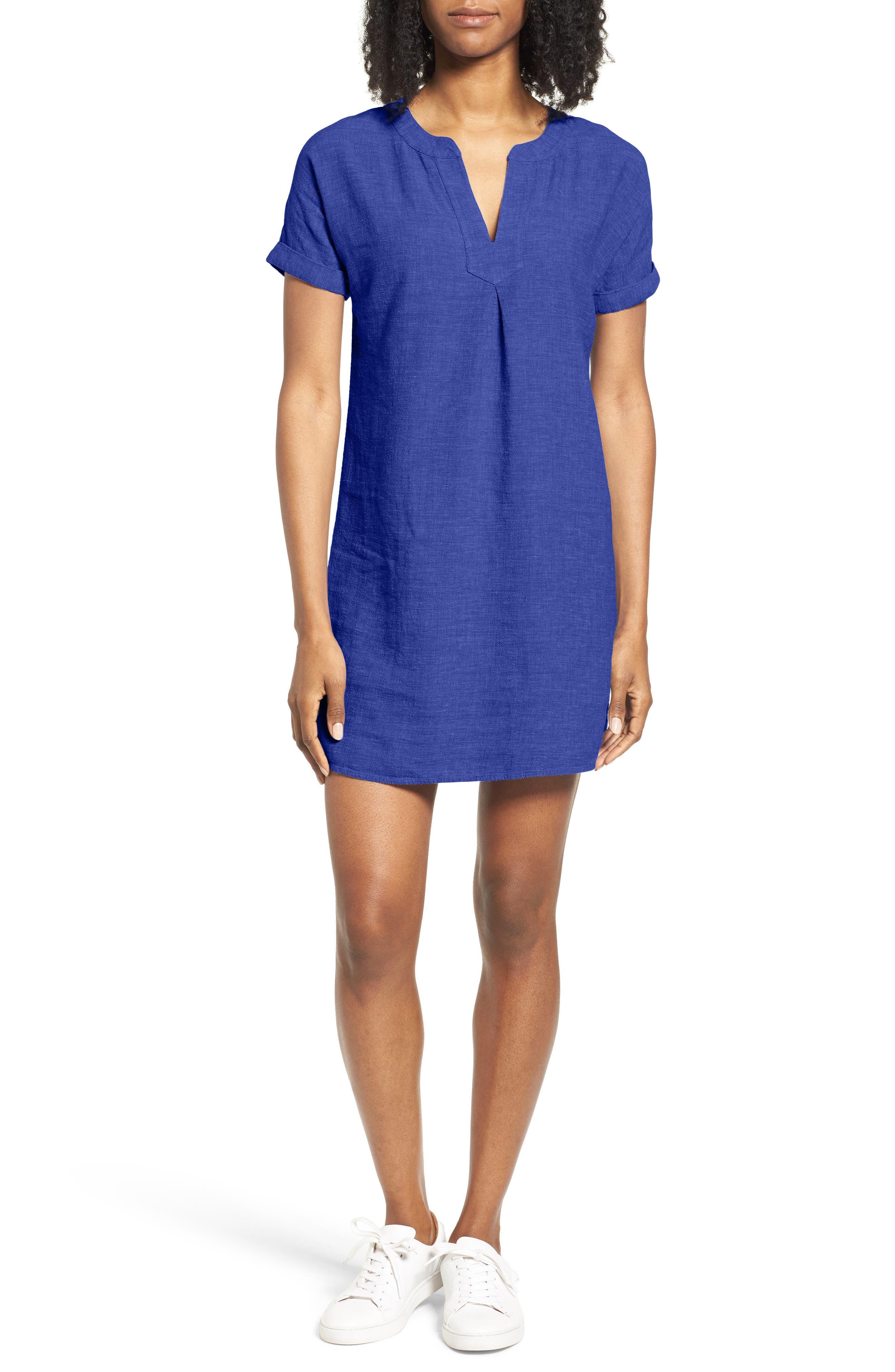 Alternate Image 1 Selected - Vineyard Vines Linen Blend Shirtdress