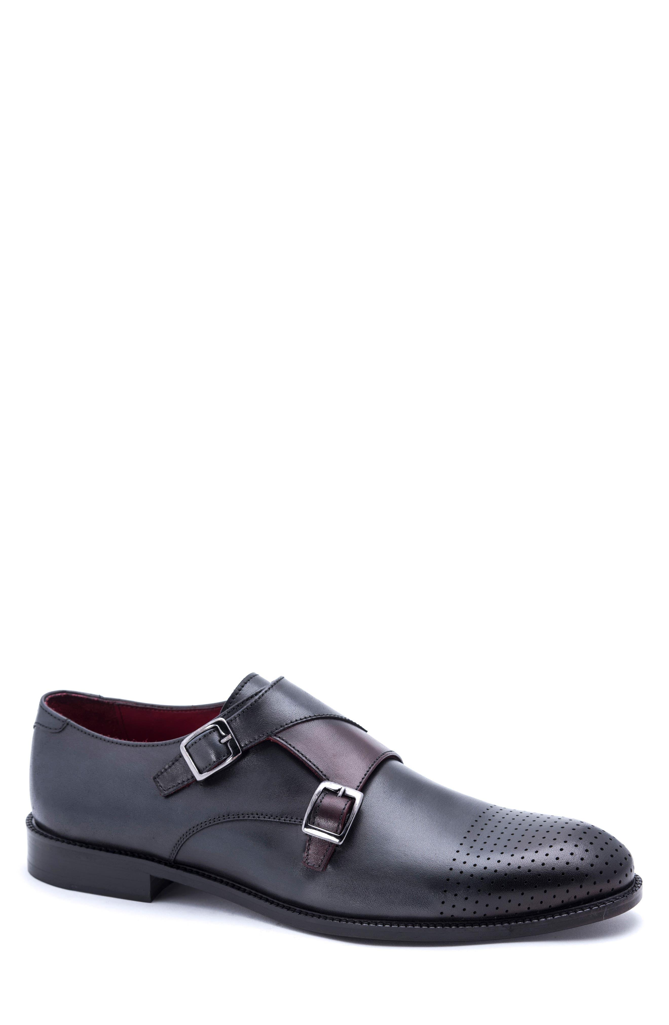 Jared Lang Perforated Monk Shoe (Men)