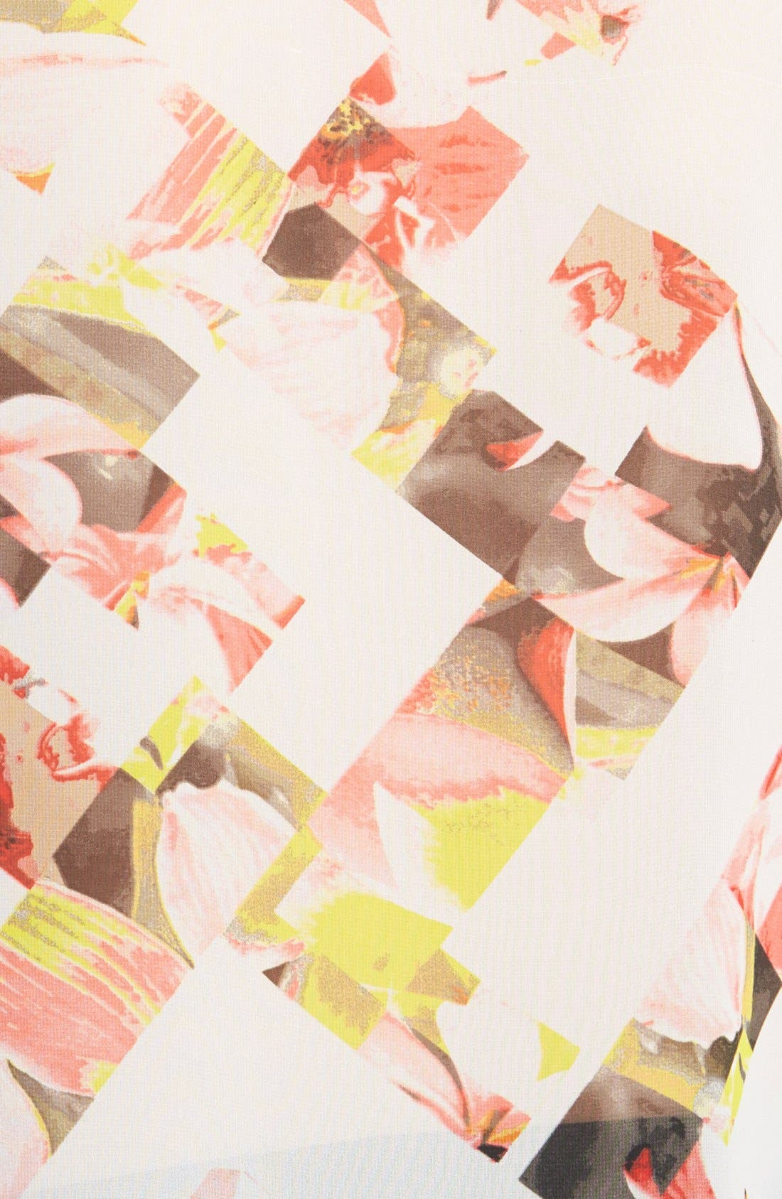 Alternate Image 3  - Vince Camuto 'Broken Photo' Floral Print Cap Sleeve Blouse (Regular & Petite)