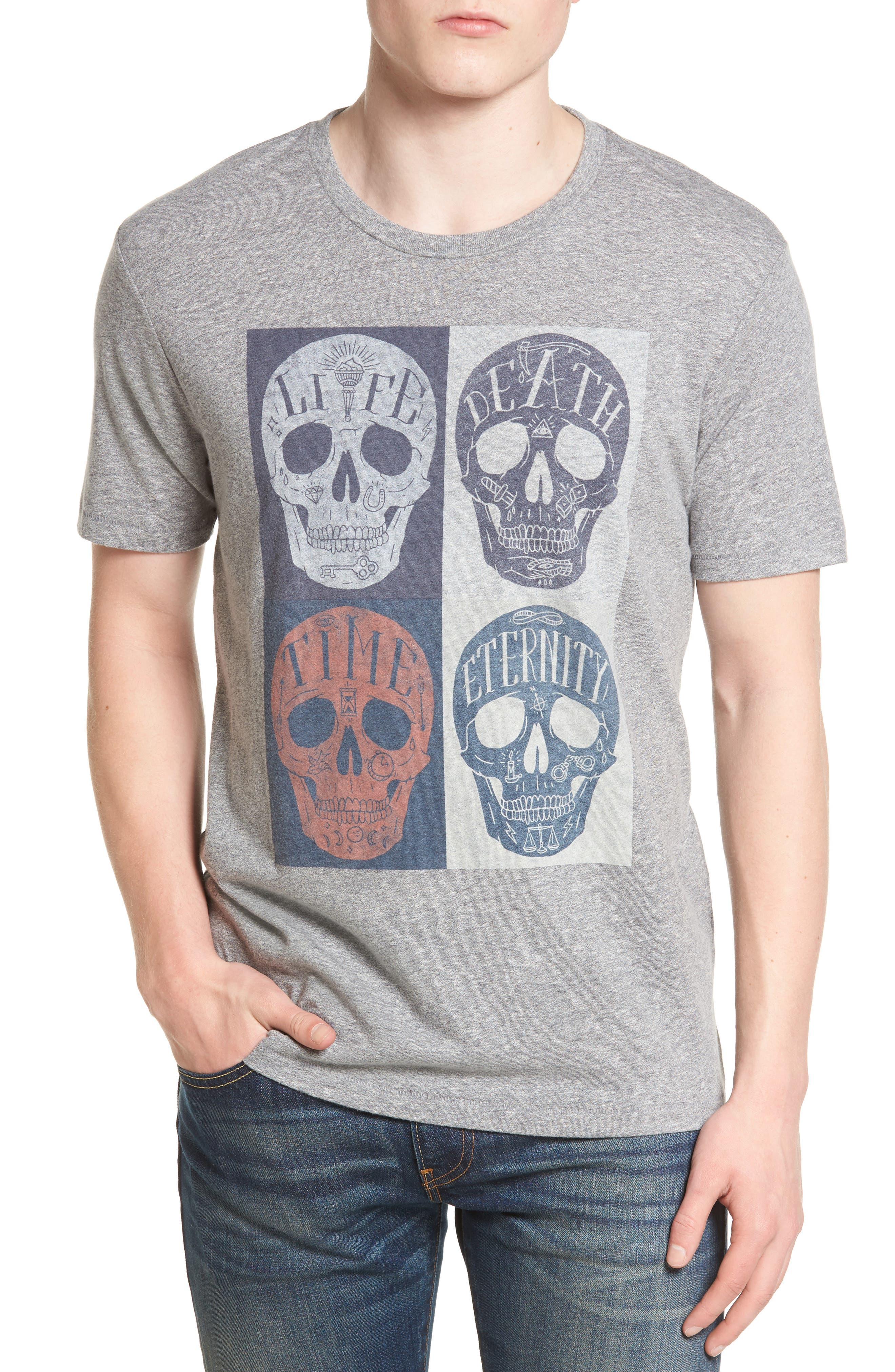 Lucky Brand Mori Skulls Graphic T-Shirt