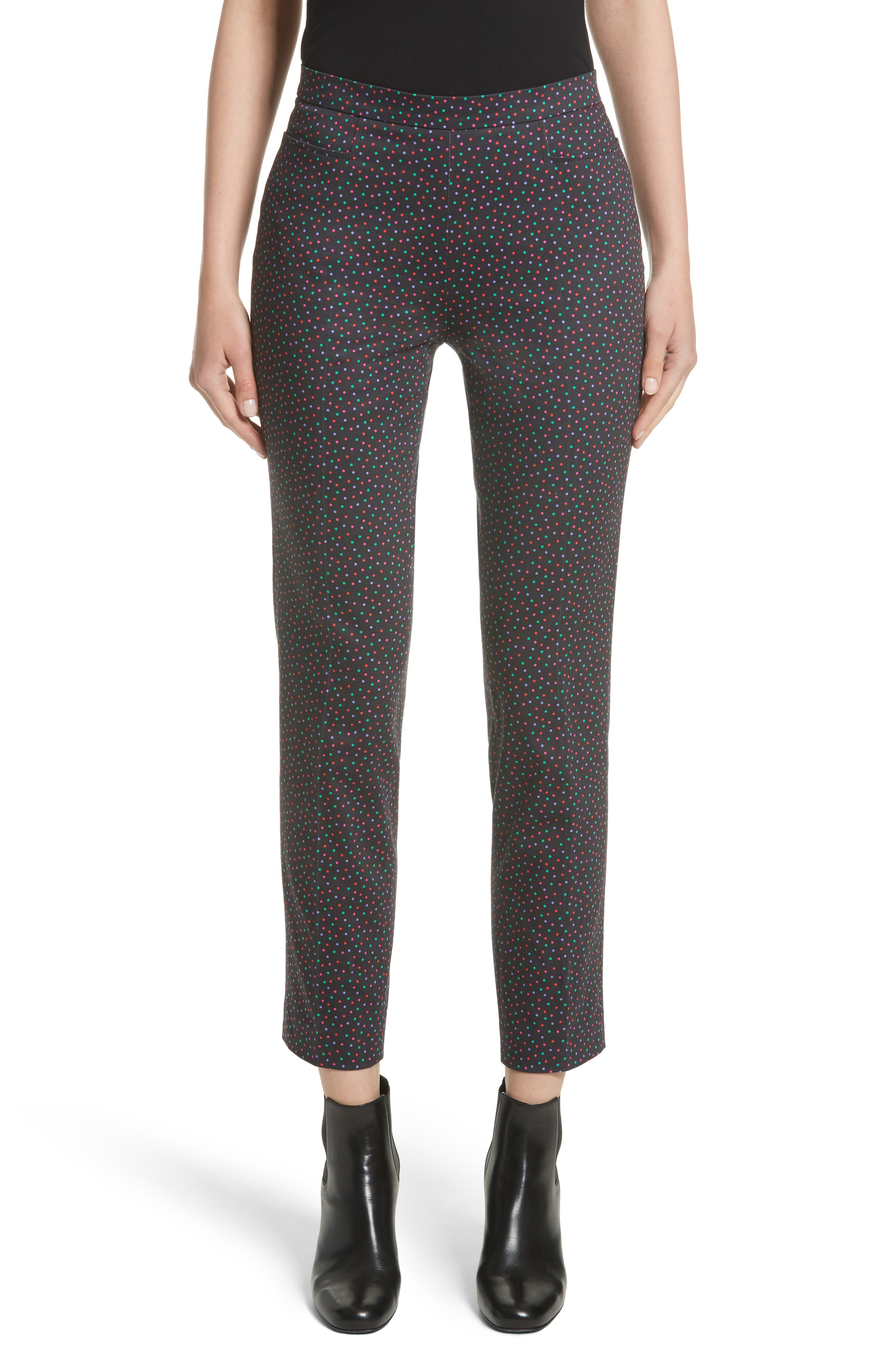 Akris punto Franca Polka Dot Stretch Cotton Pants (Nordstrom Exclusive)