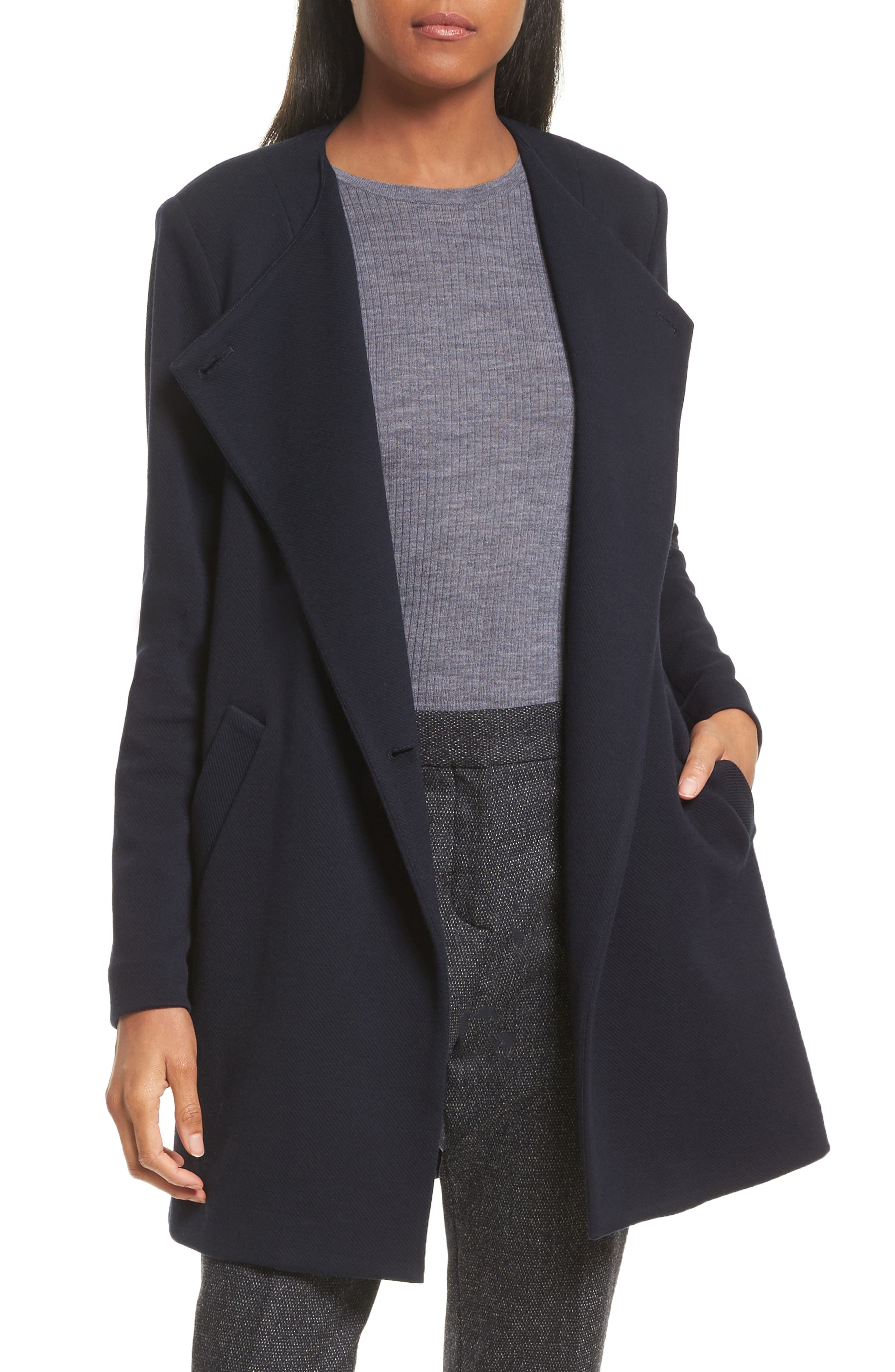 Theory Nyma Cortina Asymmetrical Coat