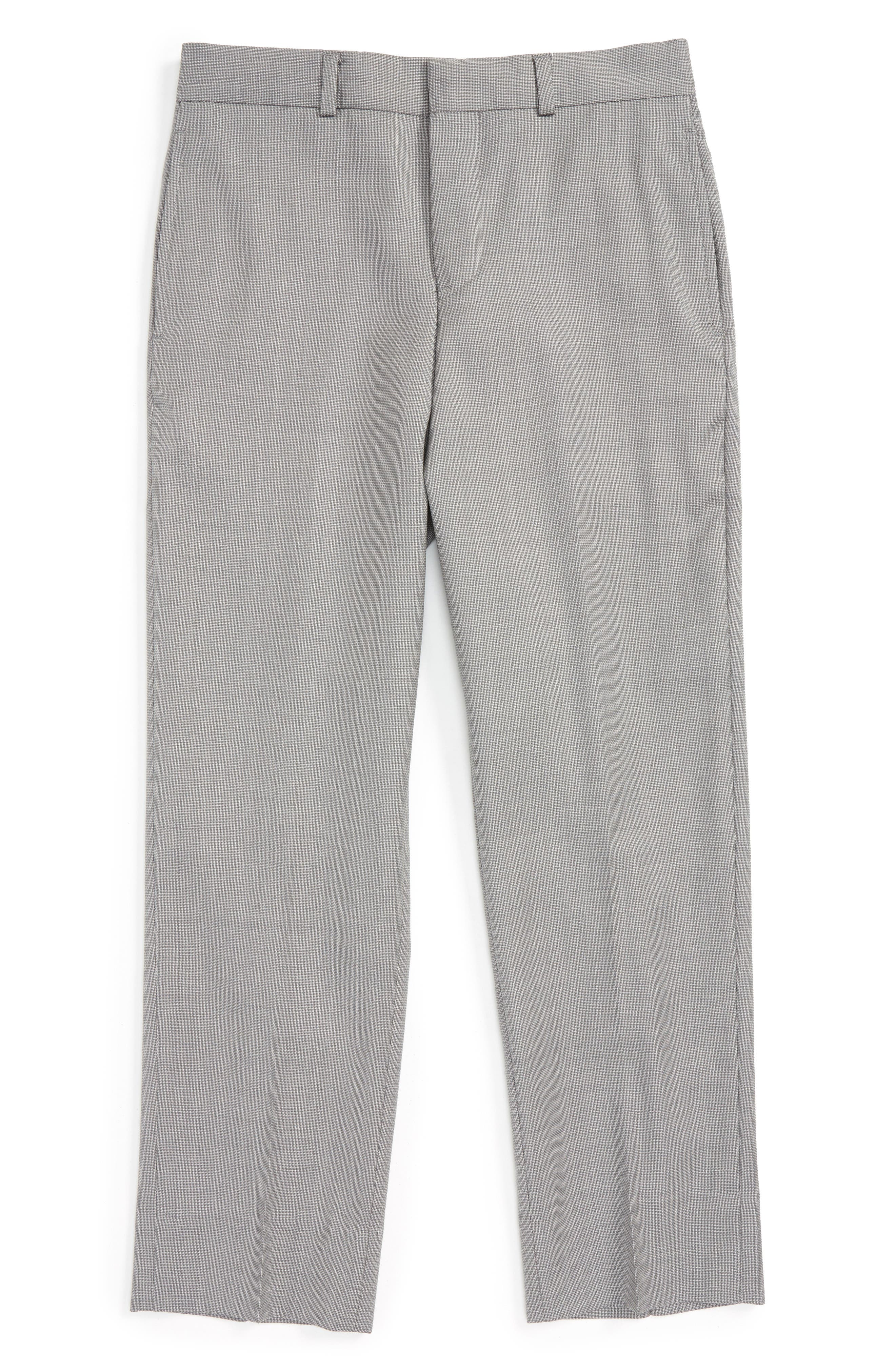JB Jr Flat Front Wool Trousers (Big Boys)