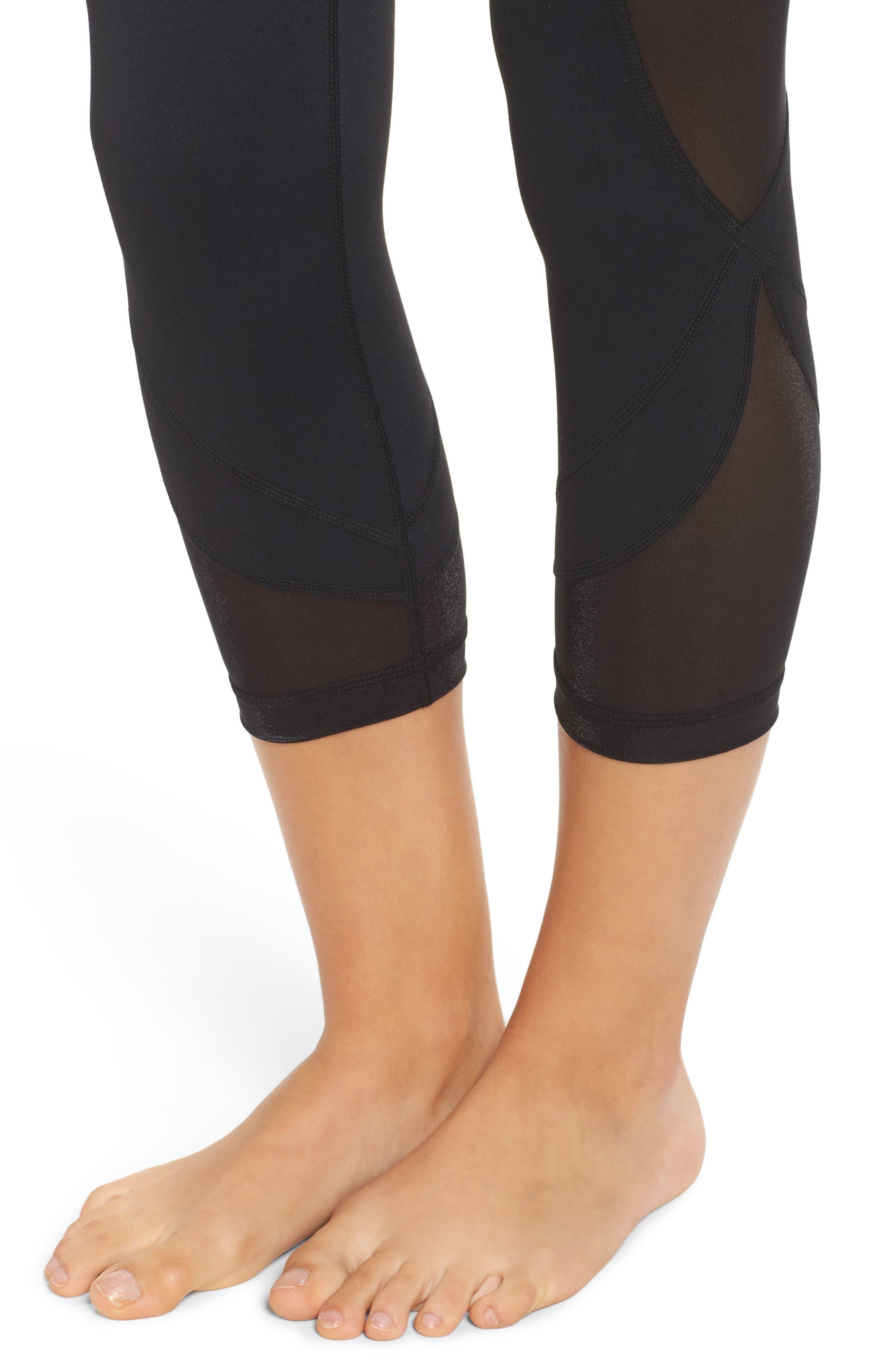 Alternate Image 4  - Zella Glam High Waist Crop Leggings