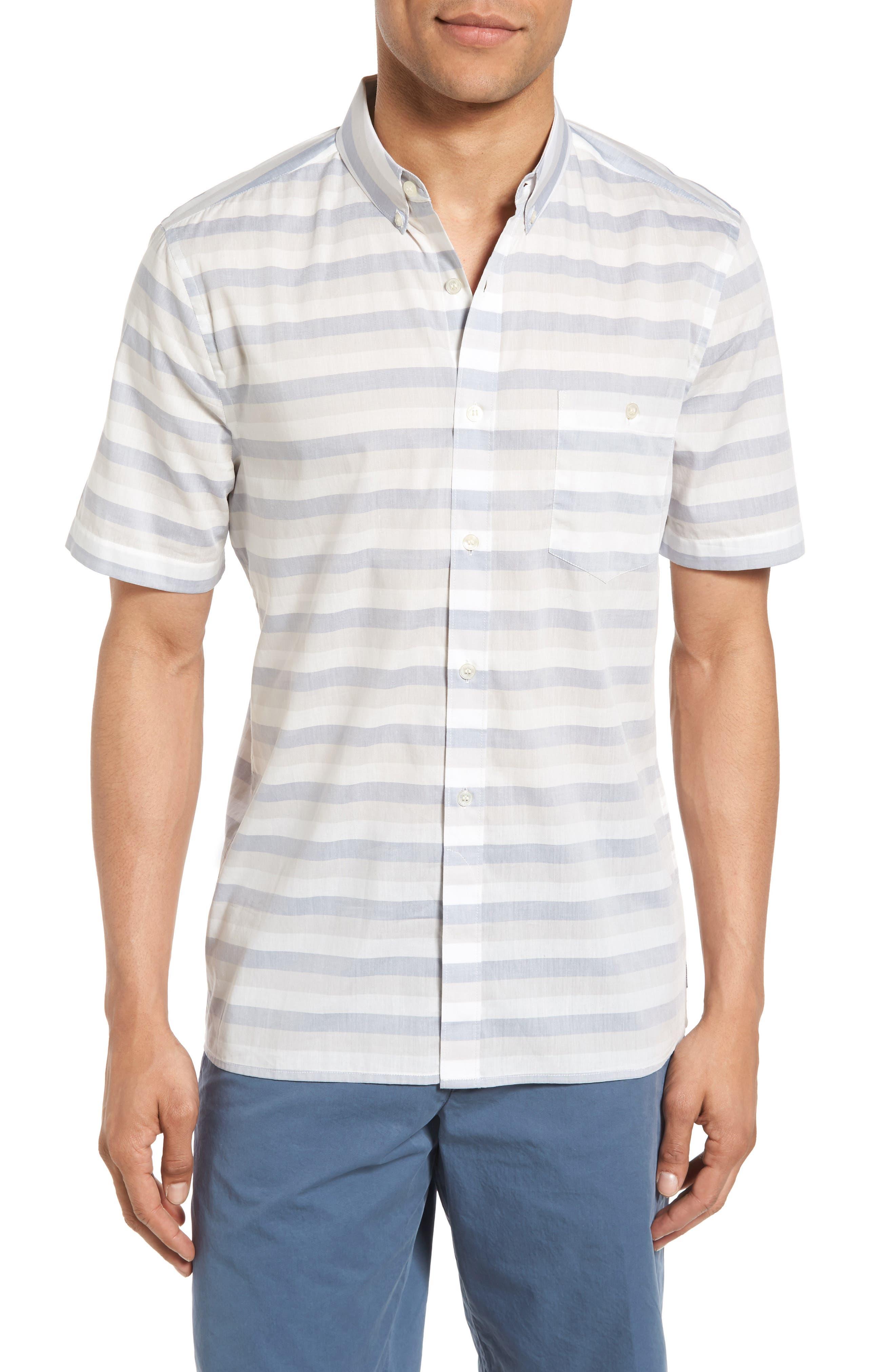 French Connection Lifeline Stripe Cotton Shirt