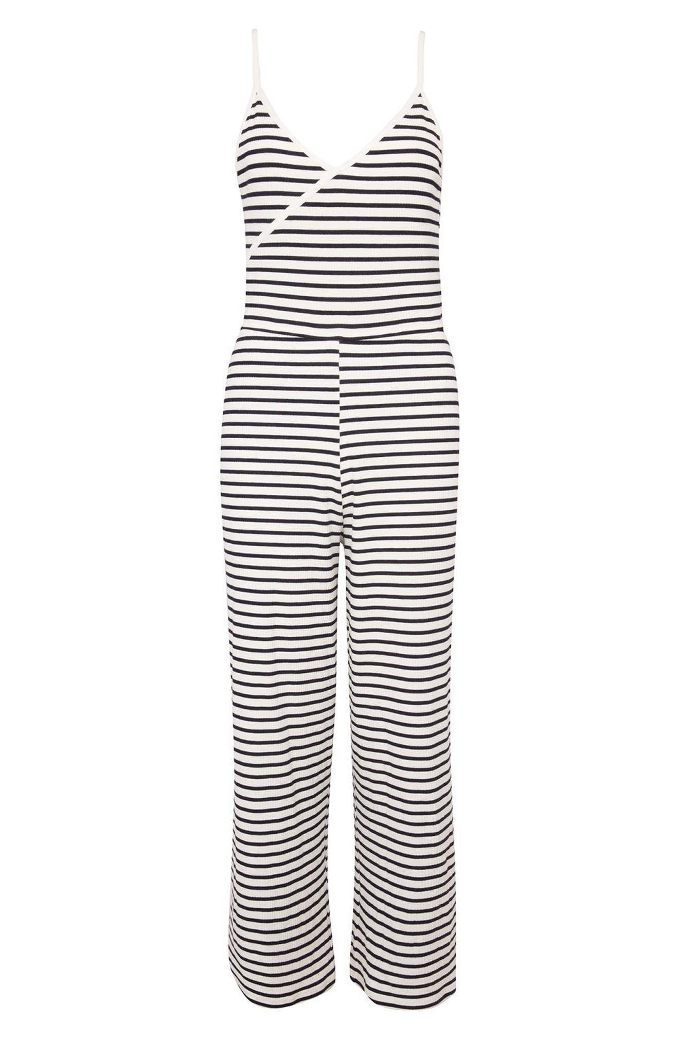 Alternate Image 4  - Topshop Stripe Jumpsuit