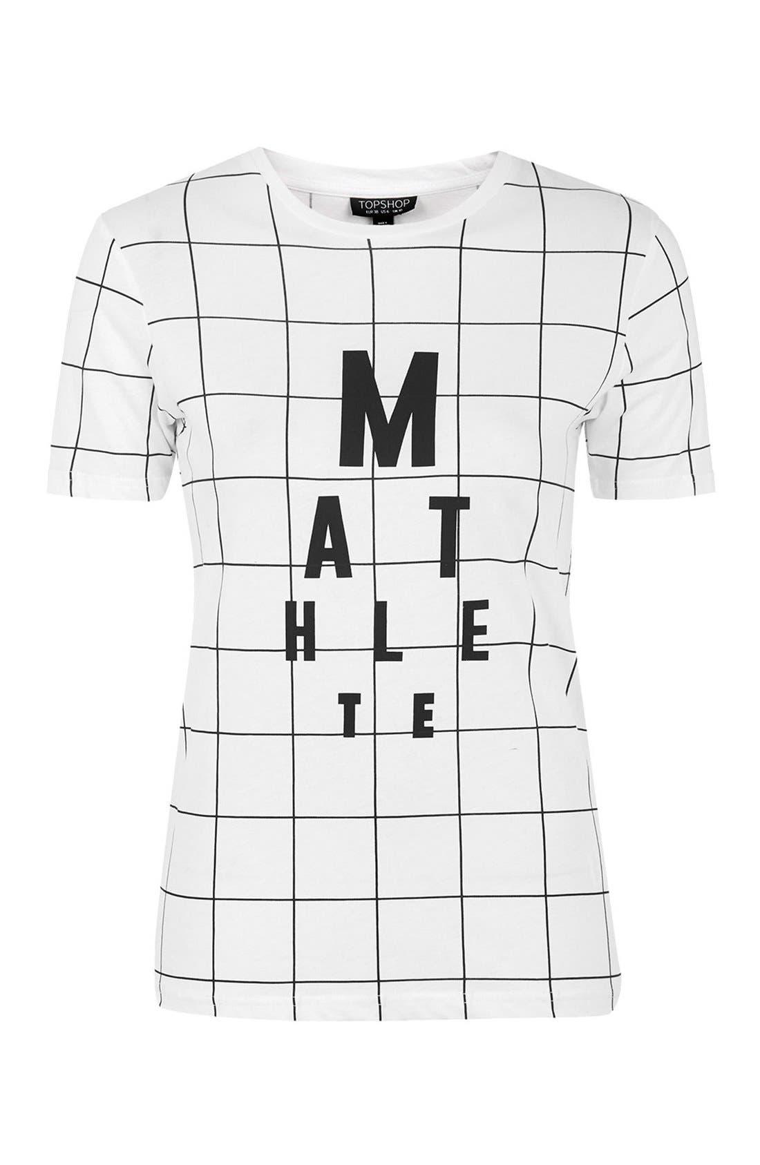 Alternate Image 3  - Topshop Mathlete Grid Tee