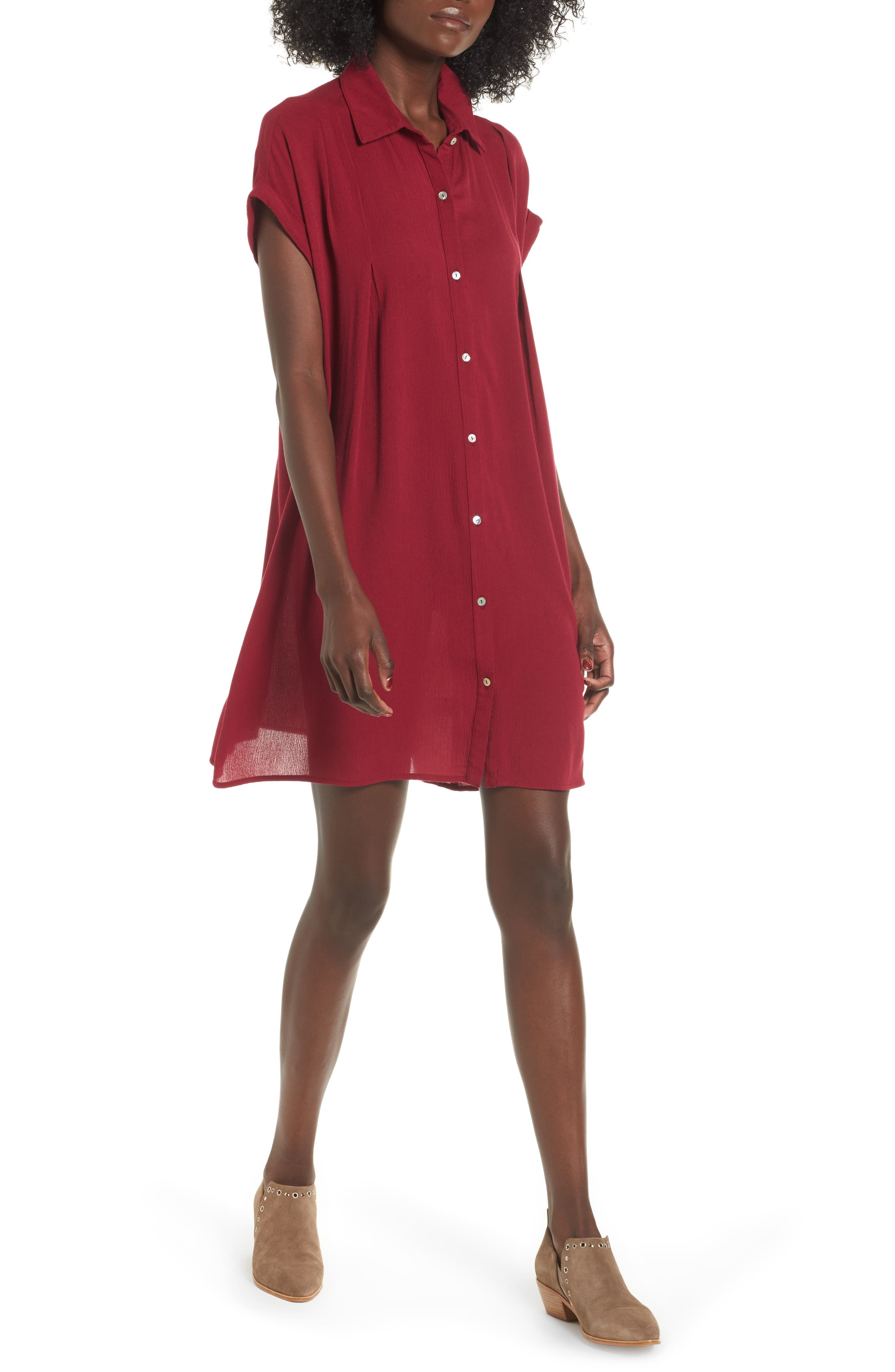 Dee Elly Gauze Shirtdress