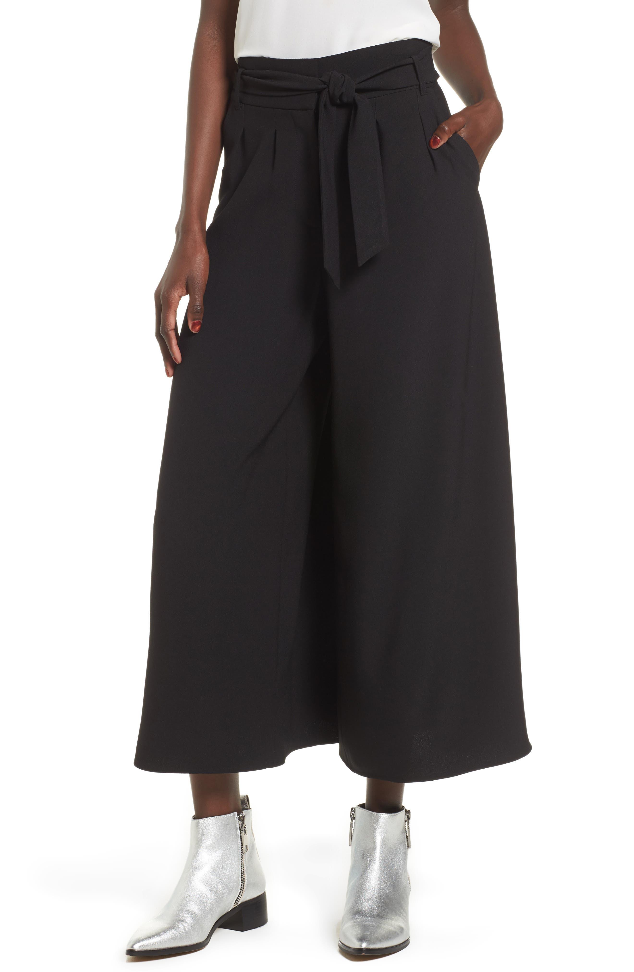 Alternate Image 1 Selected - Leith High Waist Crop Wide Leg Pants