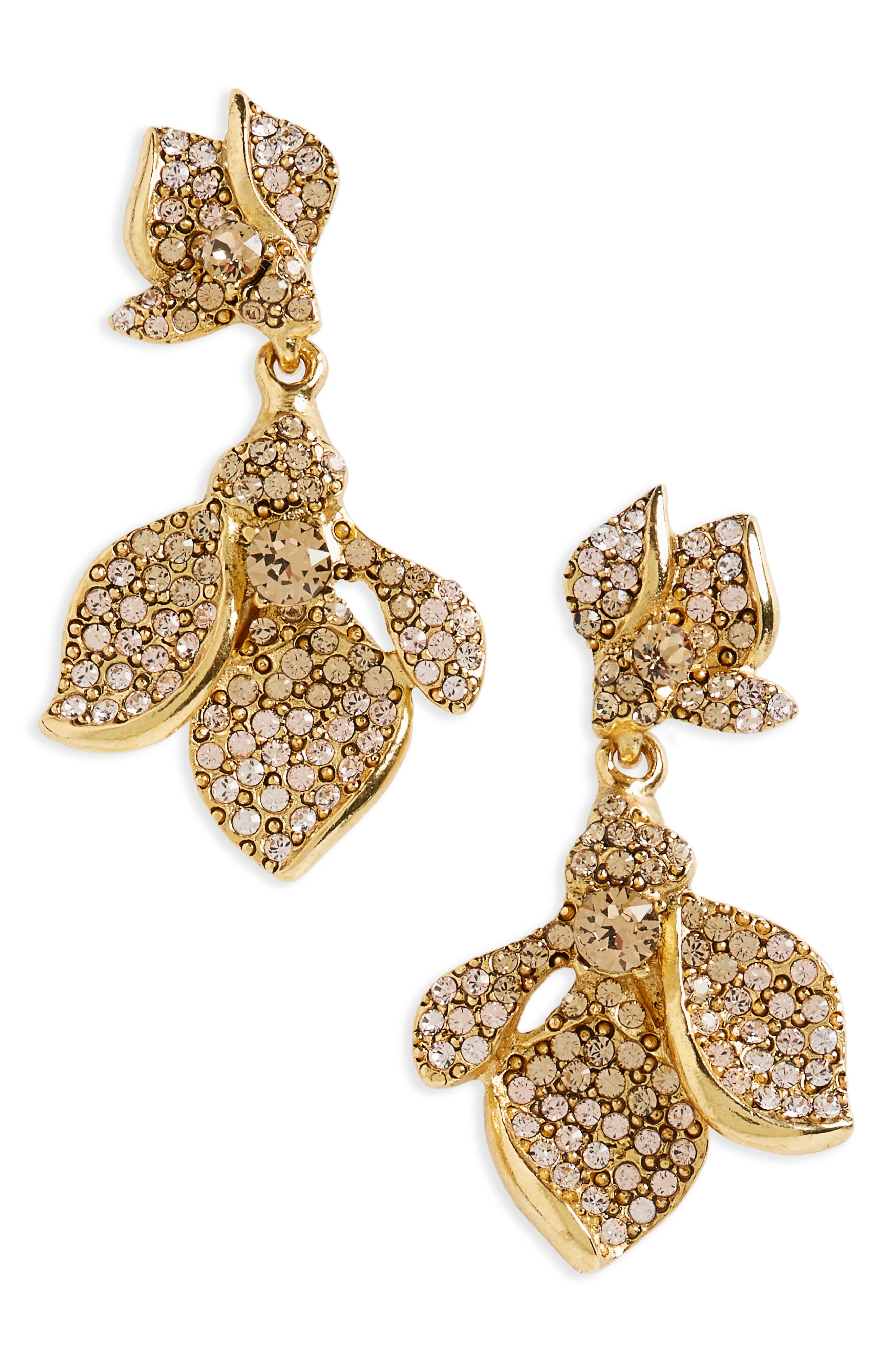 Oscar de la Renta Pavé Drop Earrings