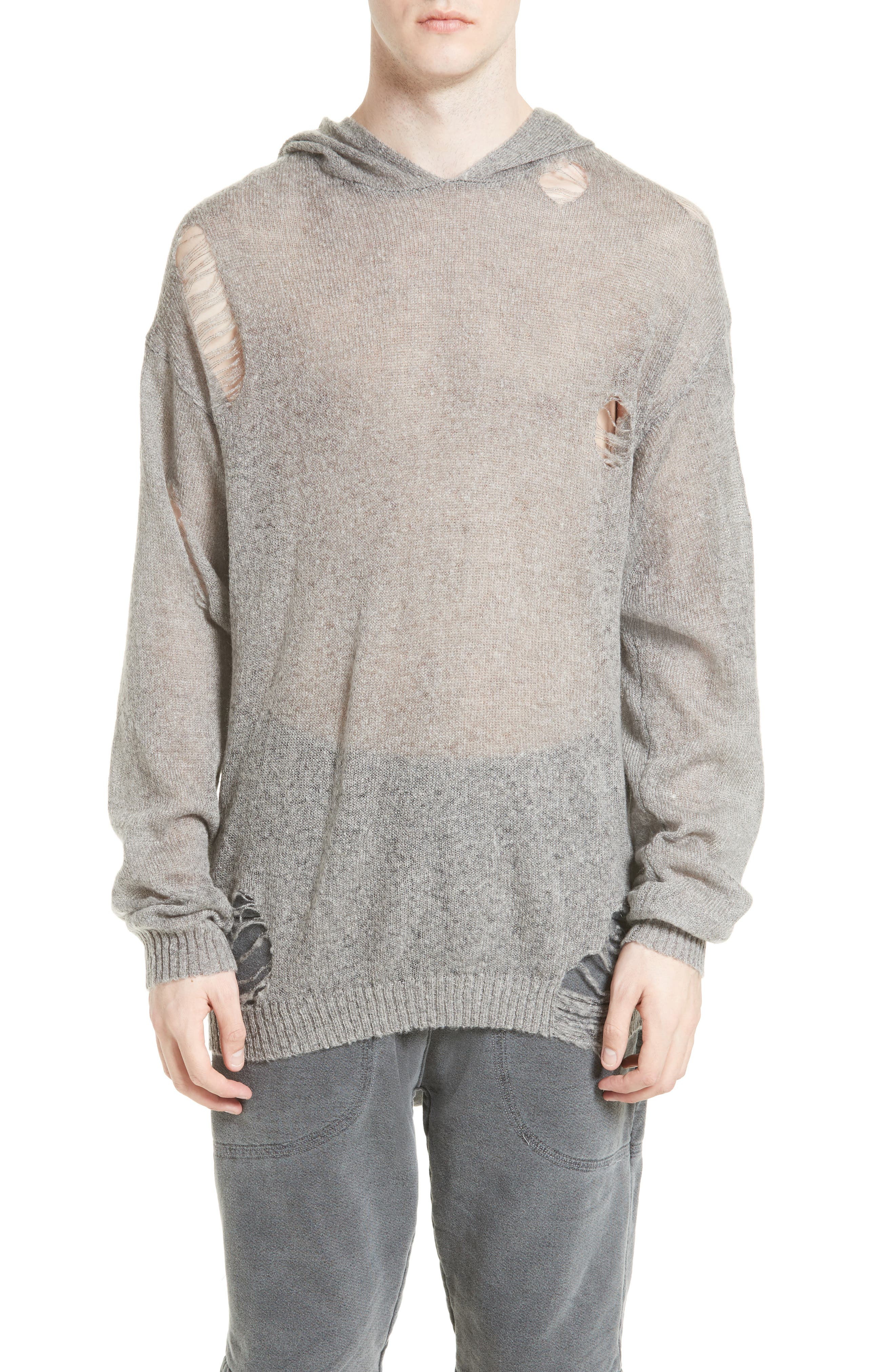 Drifter Odin Destroyed Hoodie Sweater