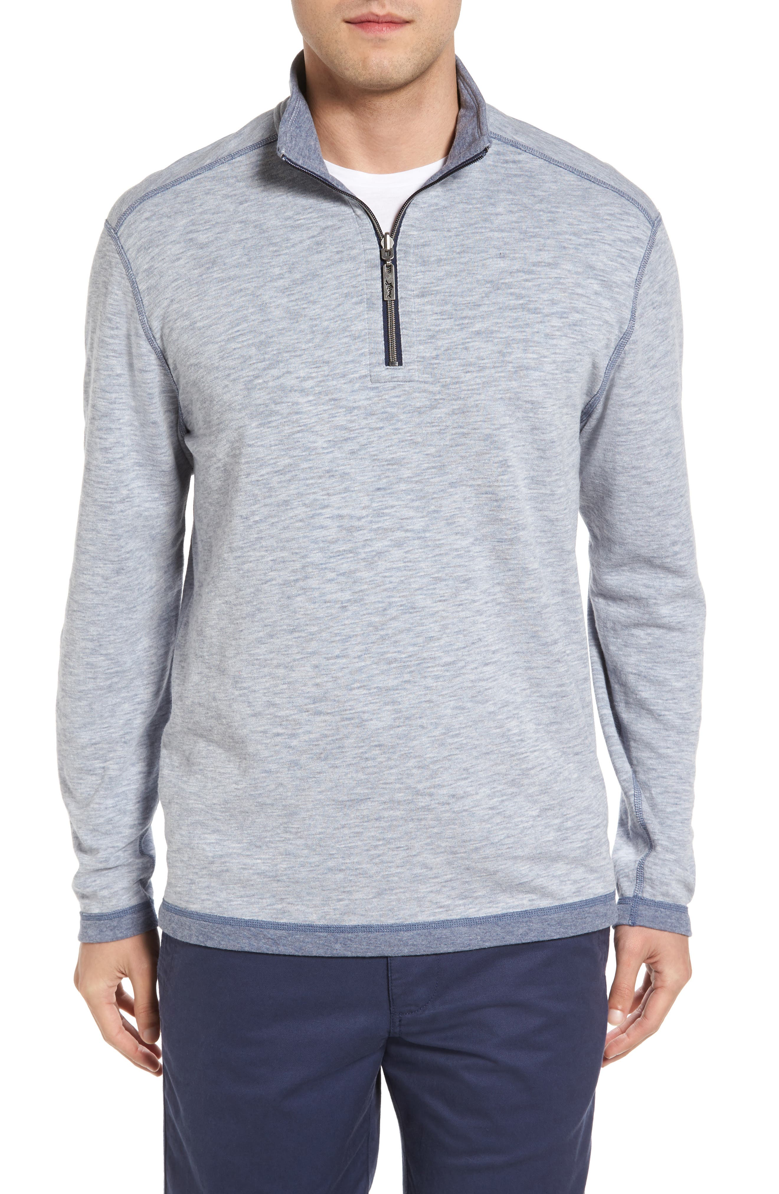 Tommy Bahama Sea Glass Reversible Quarter Zip Pullover