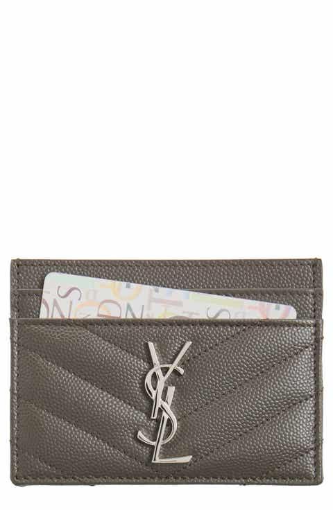Saint Laurent 'Monogram' Credit Card Case